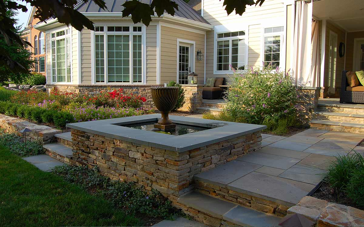 Water feature with fountain in Lancaster, PA