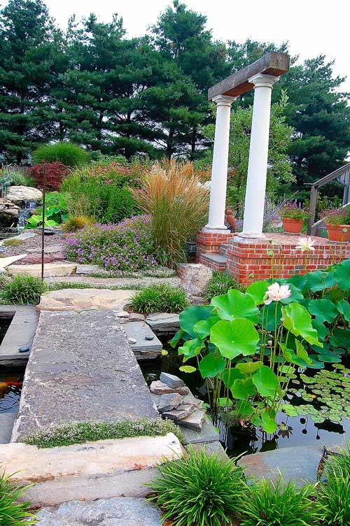 Lancaster, PA garden with koi pond