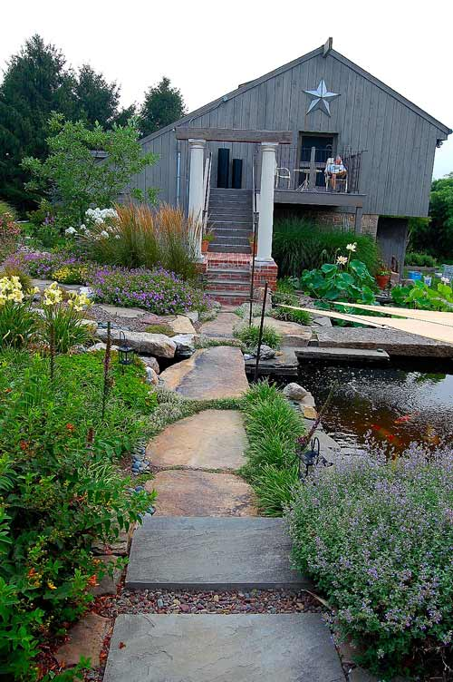 Naturalistic Garden with pond in Lancaster, PA