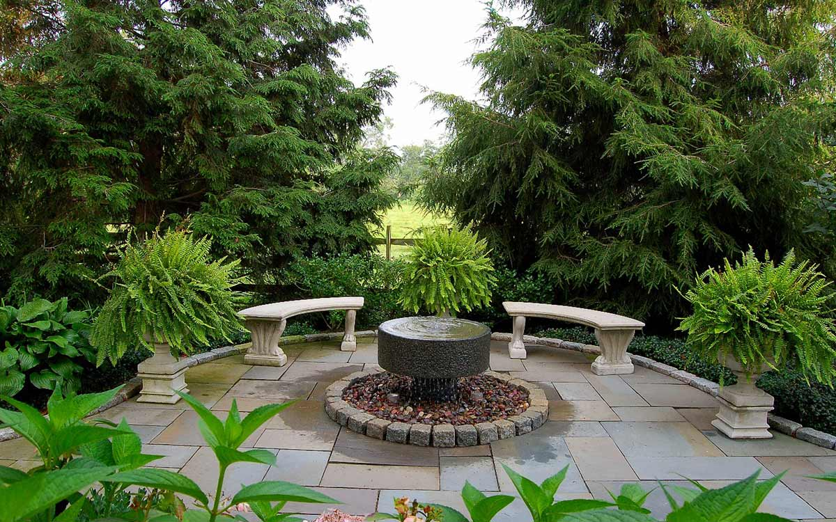 Custom millstone fountain
