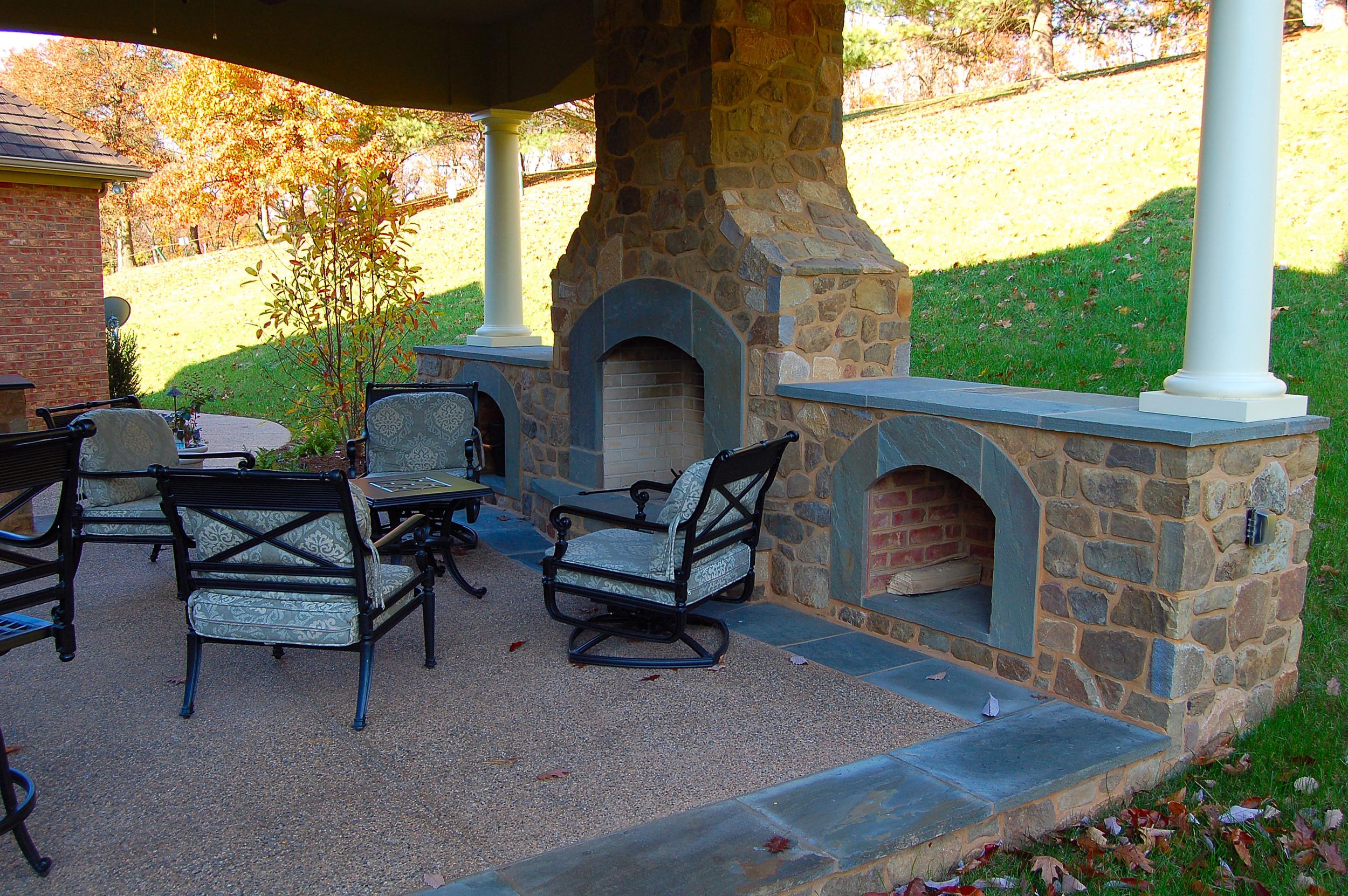 Stone outdoor fireplace York, PA