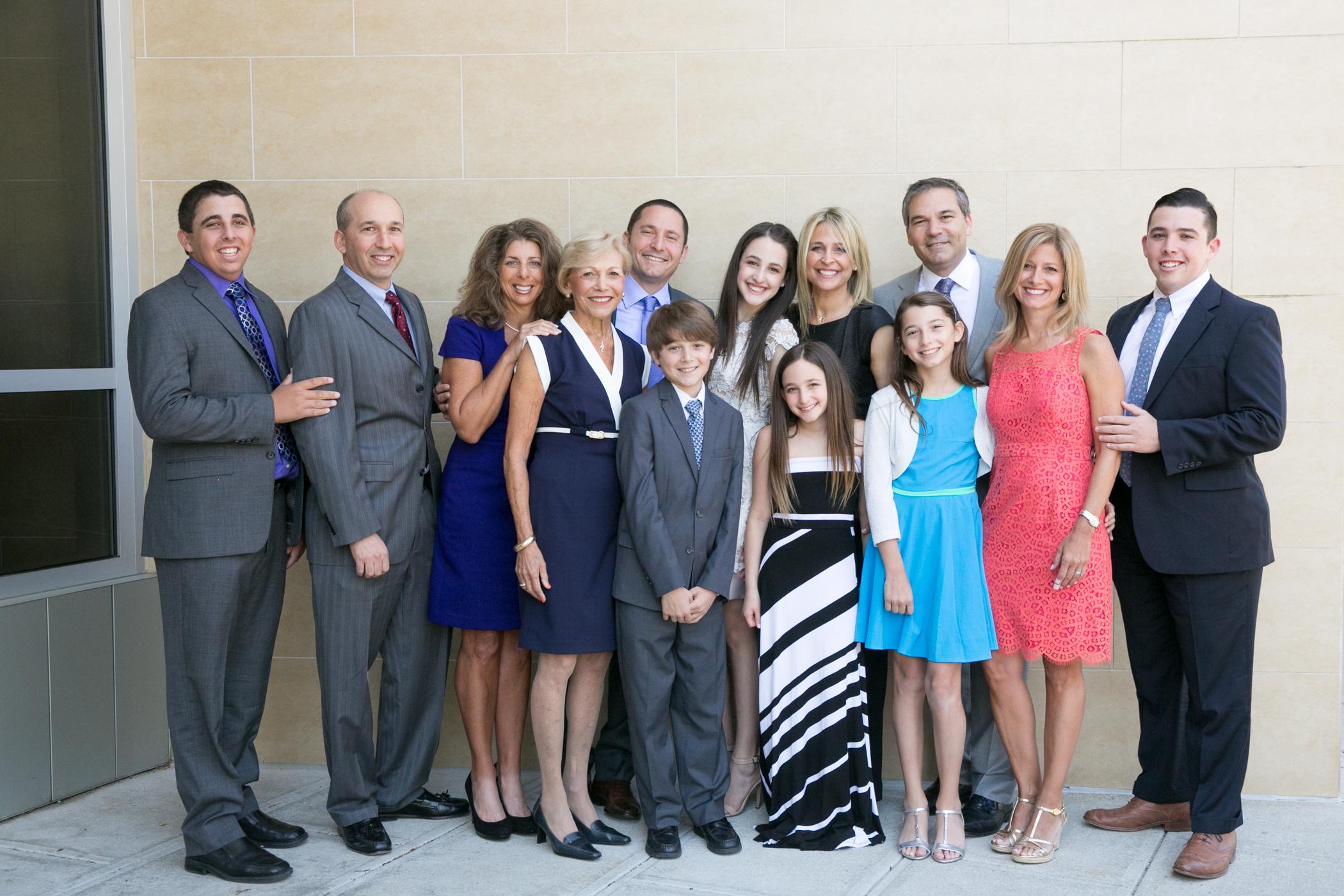 The Family at Jessie's Bat Mitzvah