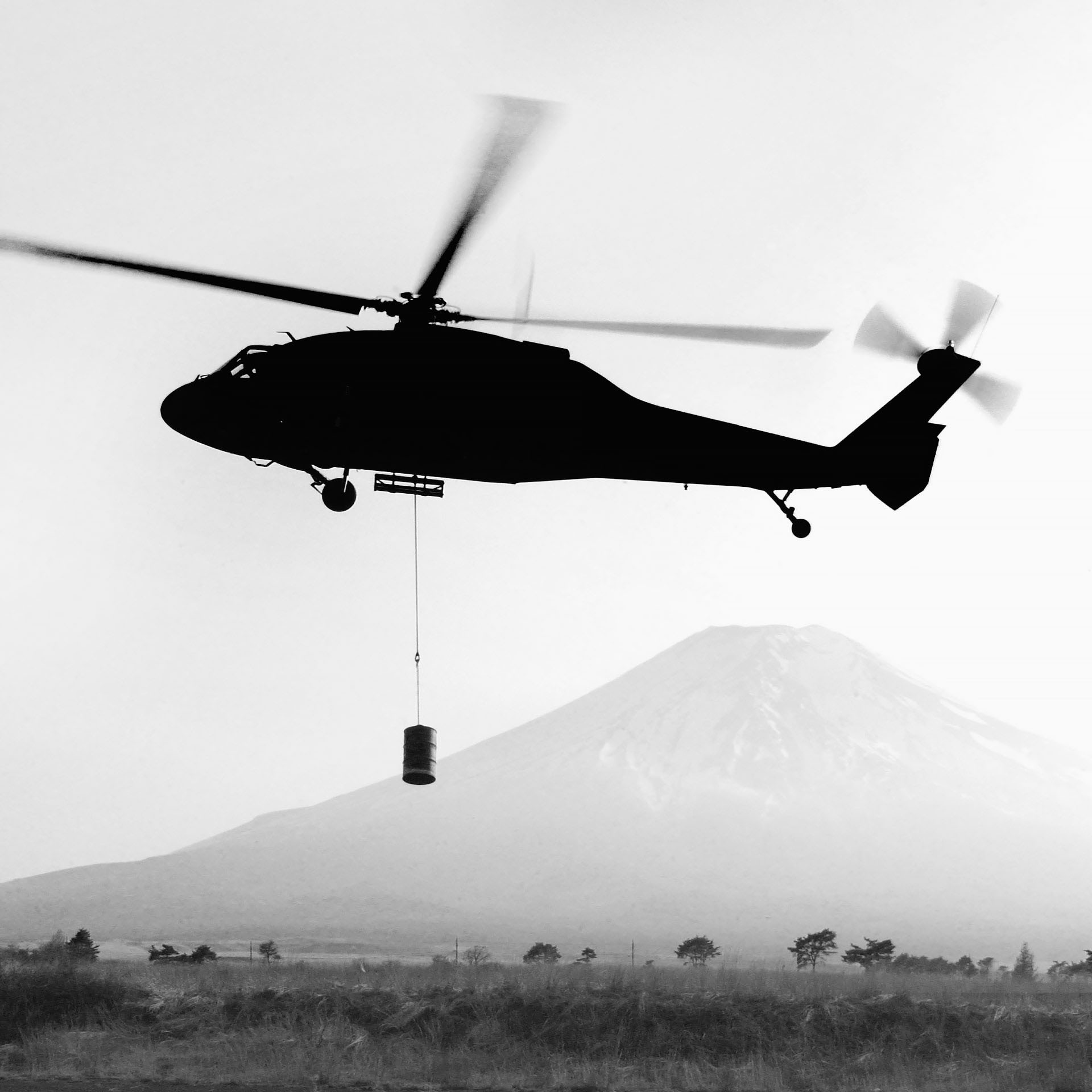 Black Hawk Over Fuji