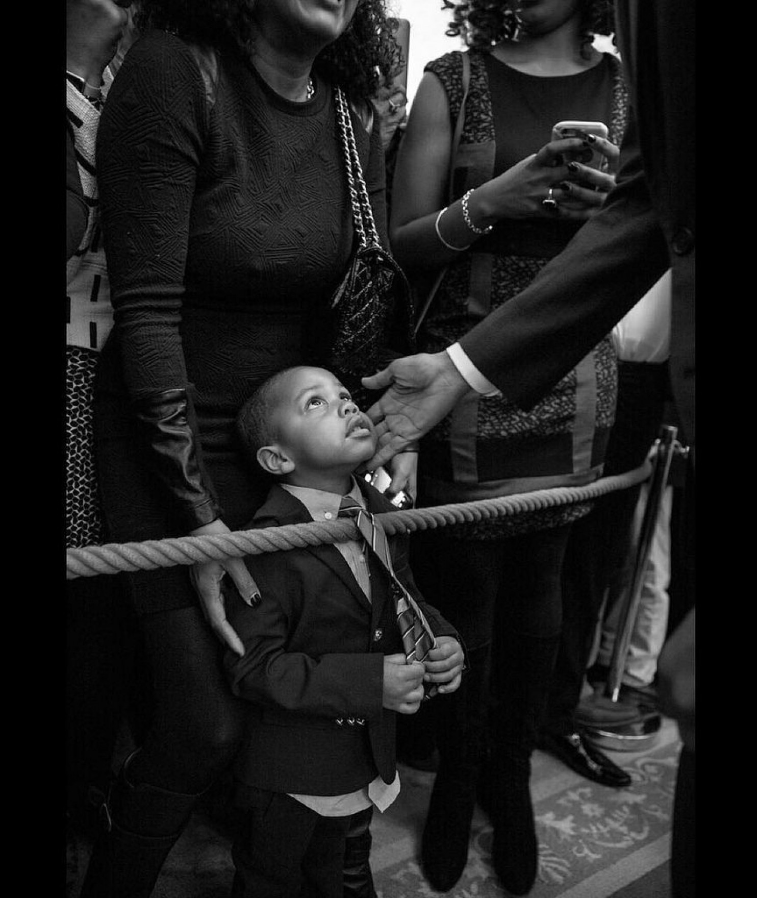 Clark Reynolds, 3, is greeted by President Obama during a Black History Month Celebration held Feb.18, 2016, at the White House in Washington, D.C. (Pete Souza/White House)