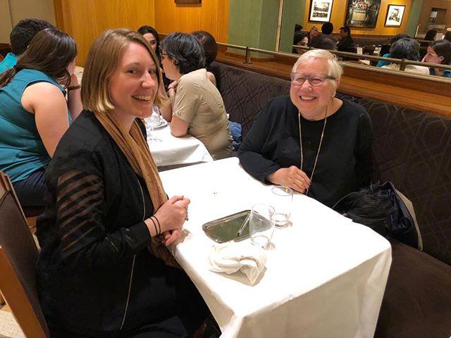 Margie and I laughing it up! Dîner du 70e anniversaire à La Coupole à Paris, été 2018. 🥖🍷😆 @la_coupole_paris