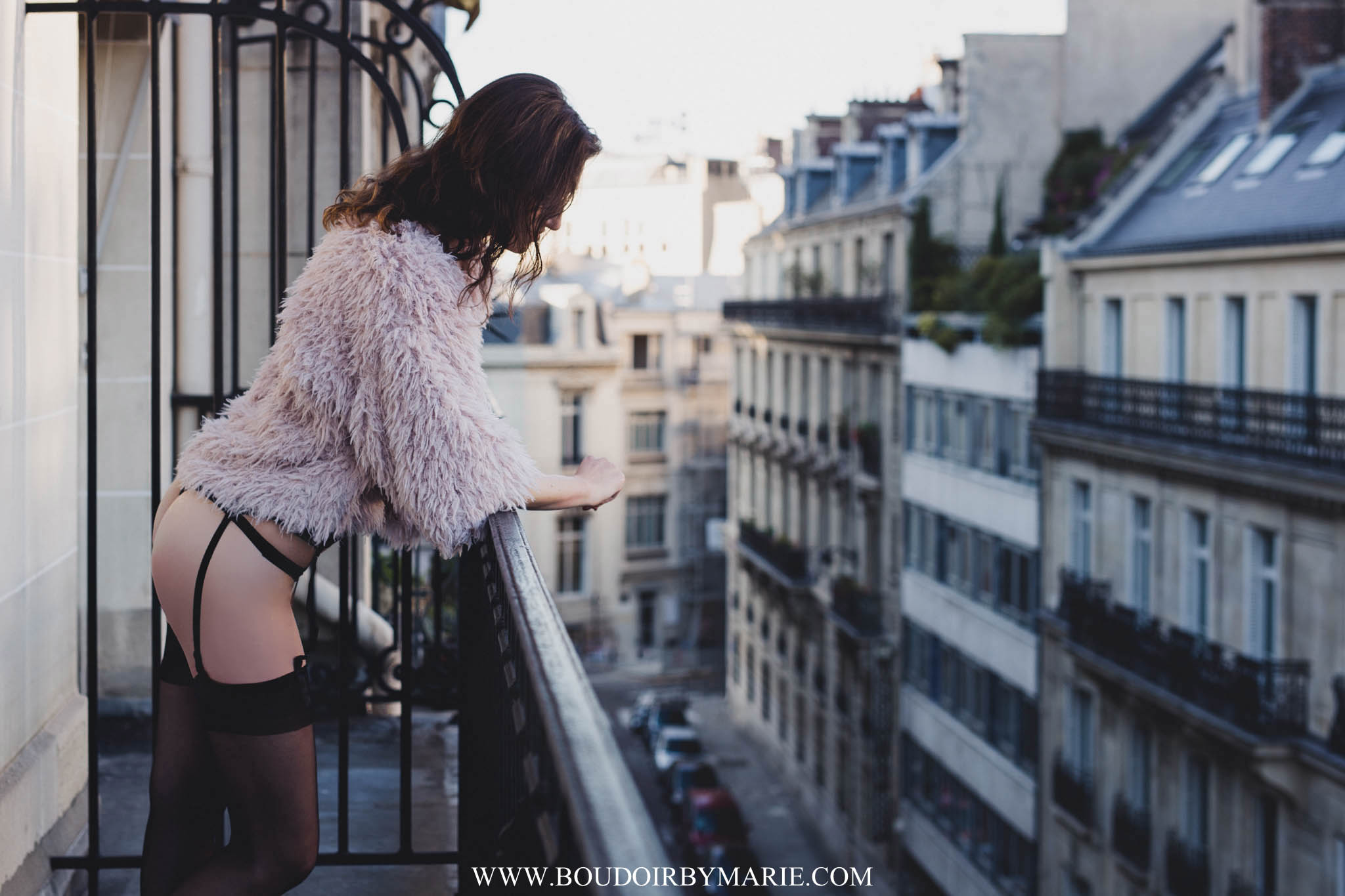 International Boudoir Photographer Boudoir by Marie traveled to Paris, France for this dark and moody boudoir photography session.