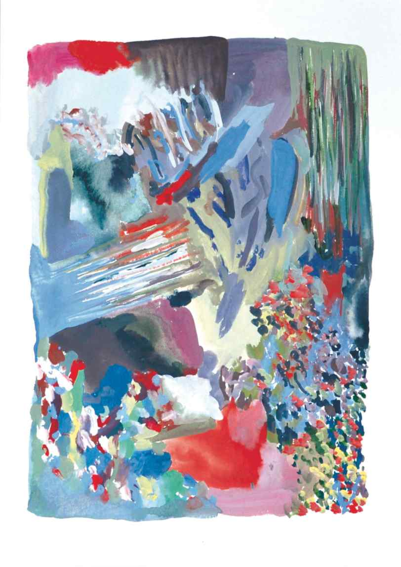 Spring , 2012 gouache and acrylic on paper 40 x 25 cm