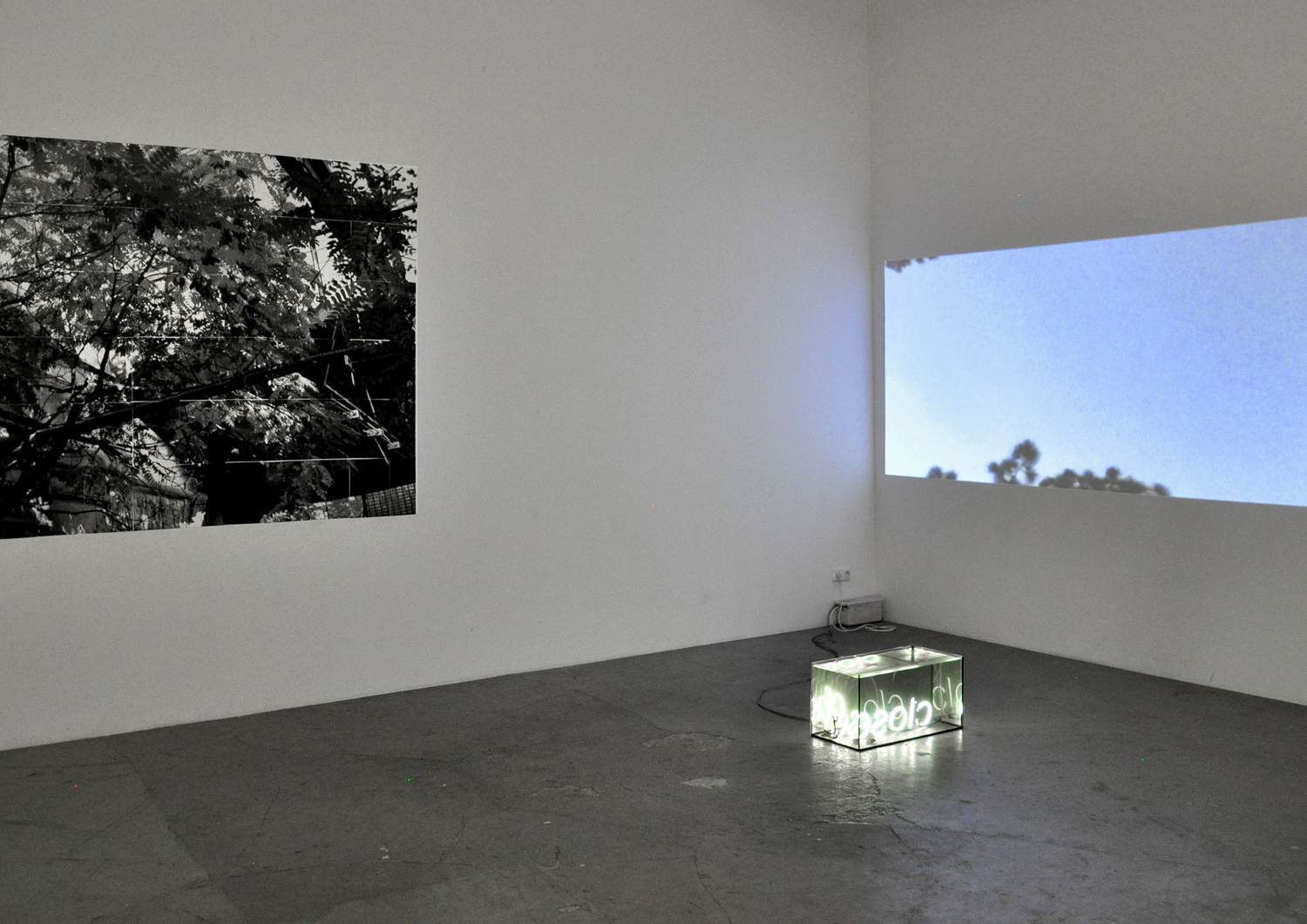 installation view, Studio Jeppe Hein, Berlin, 2013