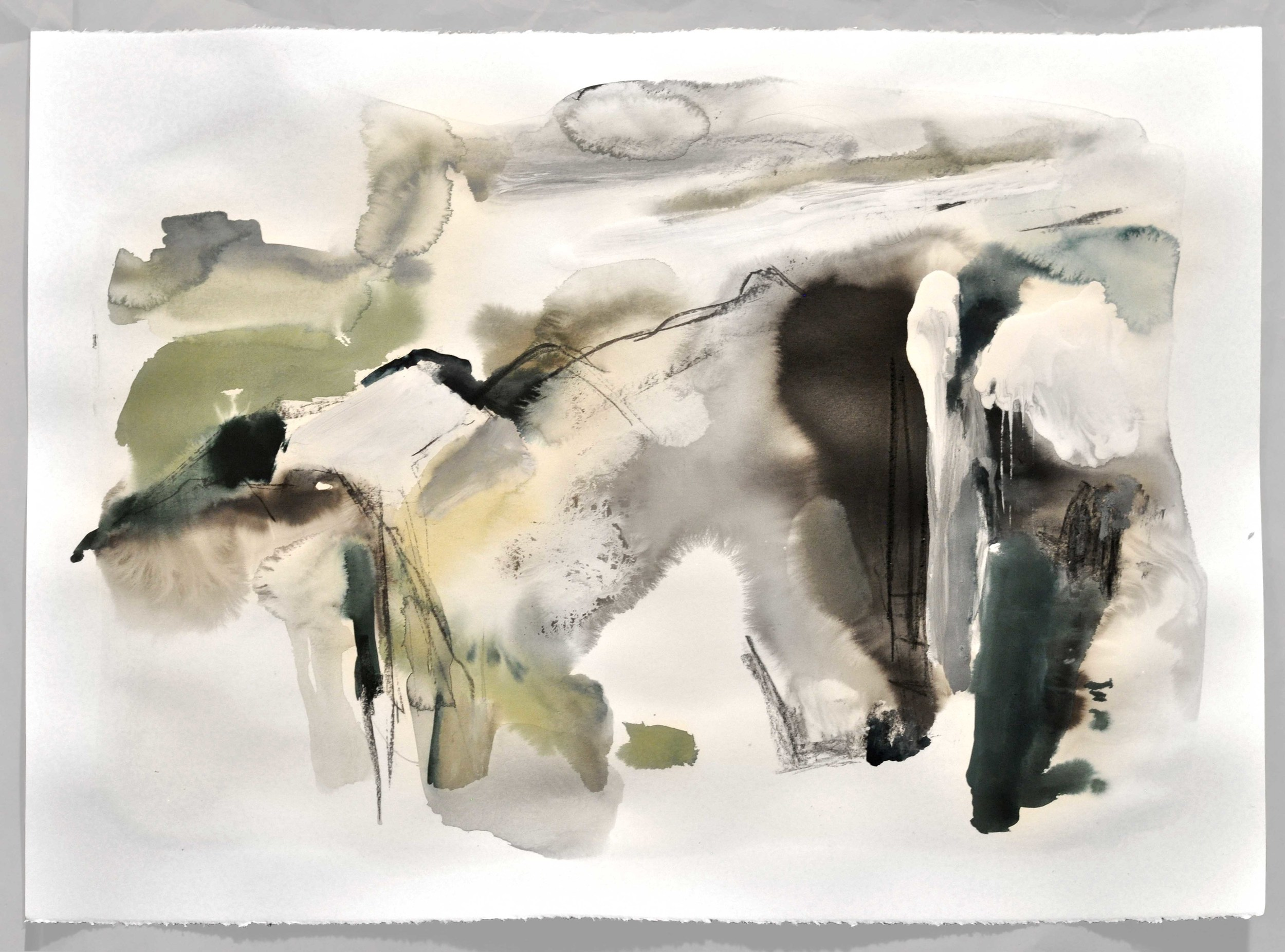 Mont I , 2014 ink, tempera, gouache, charcoal on paper 76 x 56 cm