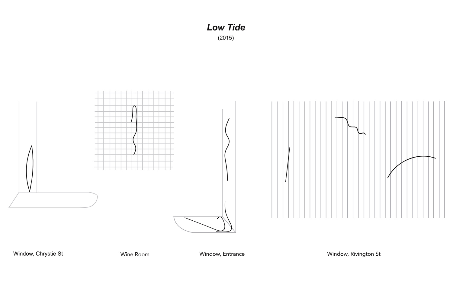 Low Tide , 2015  site plan Le Turtle, New York, 2015   —   in collaboration with Friends X Family, Taavo Somer