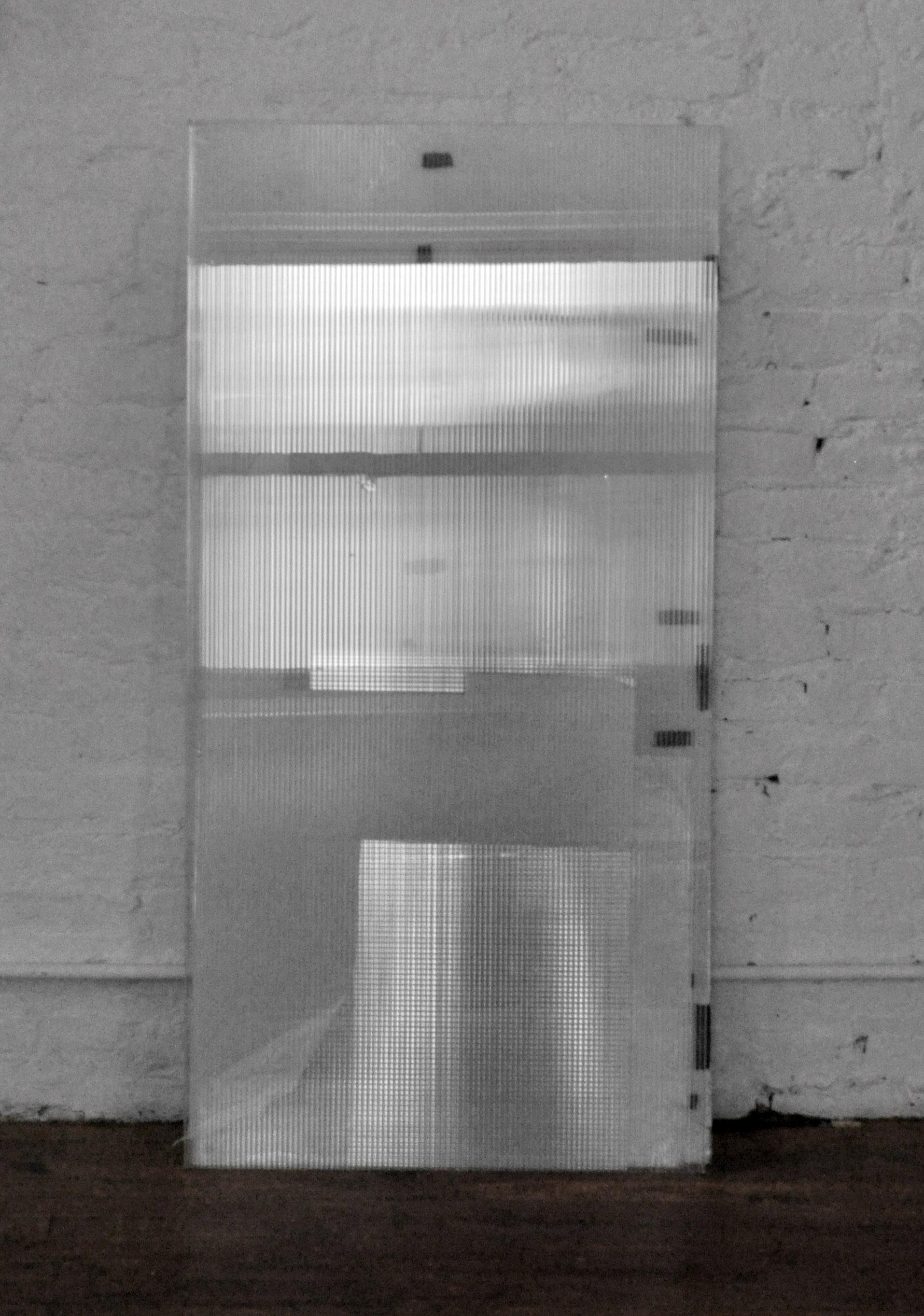 The Silver Window , polycarbonate sheets, black tape, acetate, 122 x 61 cm, 2016
