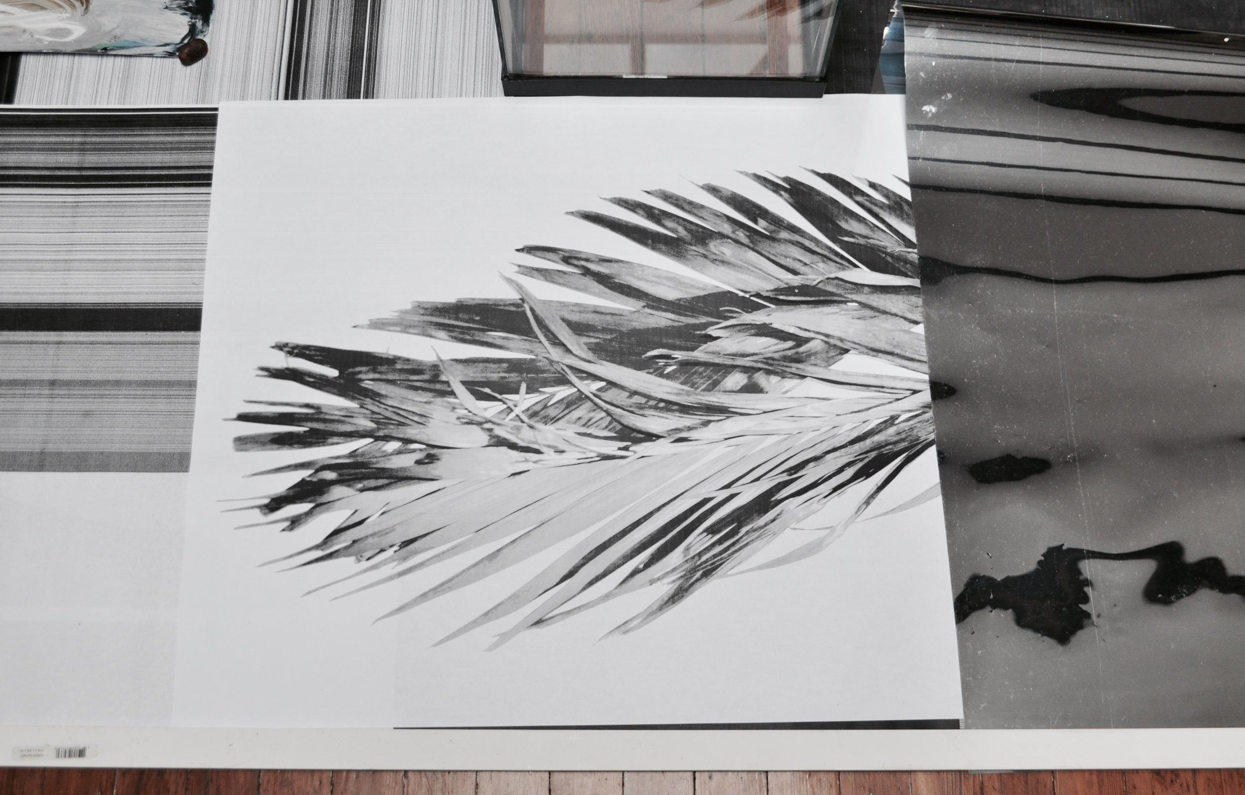 Home Grown Garden , 2016 wood, stones, c-prints, aquarium, mylar, oil on mirror paper 220 x 210 x 35 cm  (detail)