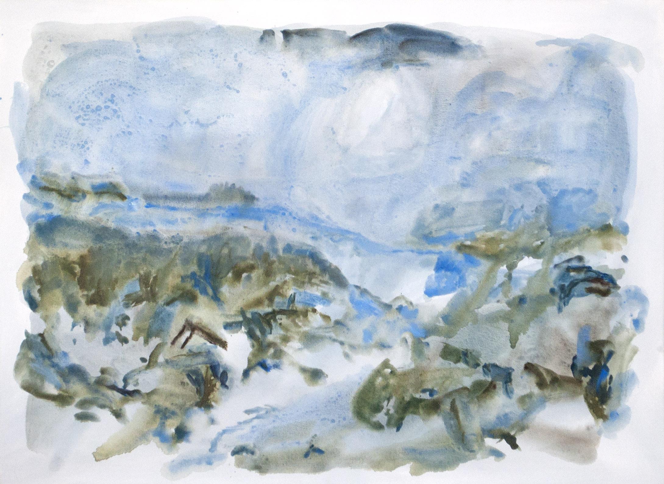 Marais Don Quichotte 2/3, gouache and acrylic on canvas, 76 x 102 cm, 2016
