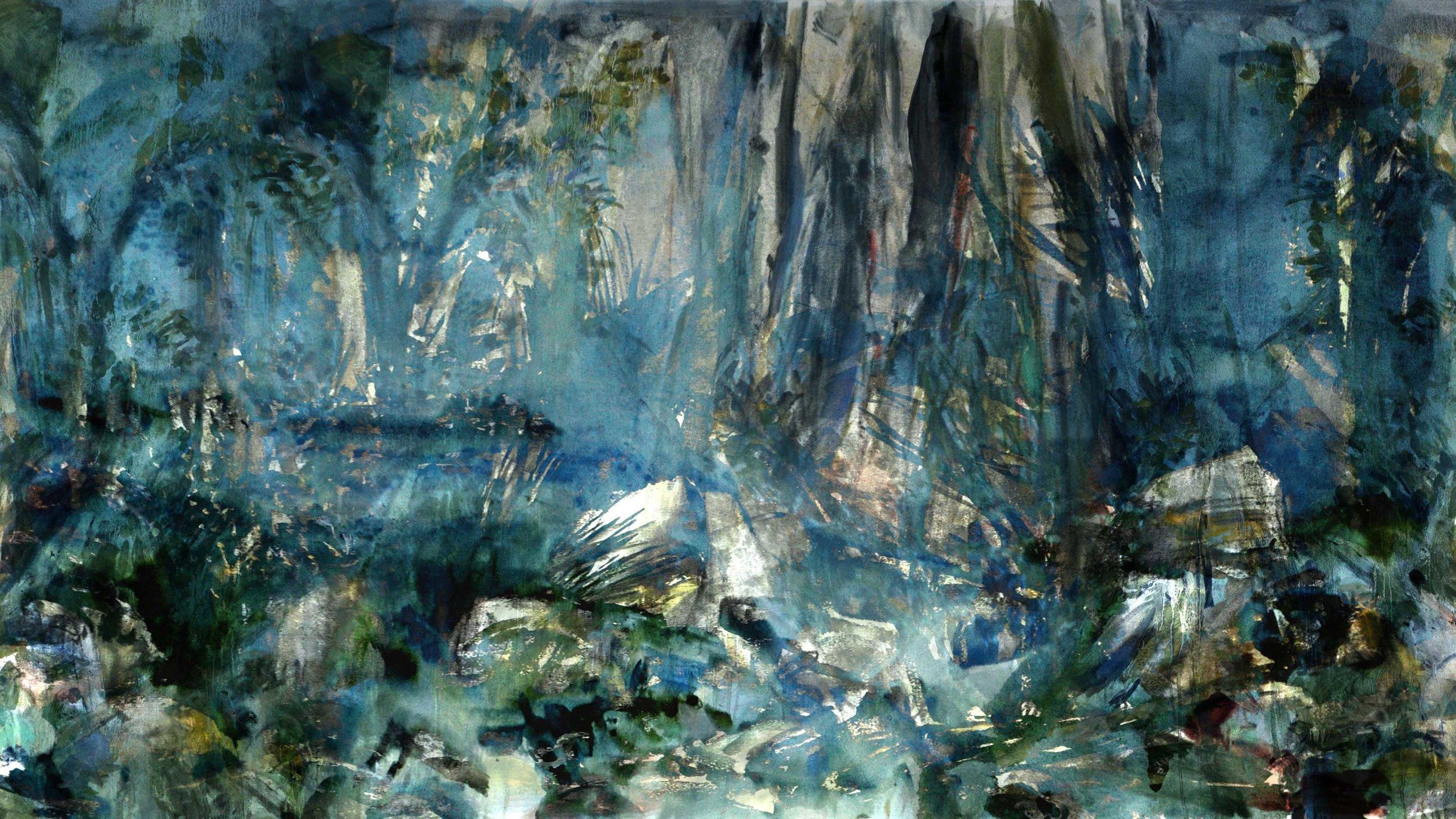Marais 4, digital painting, dimensions variable, 2016