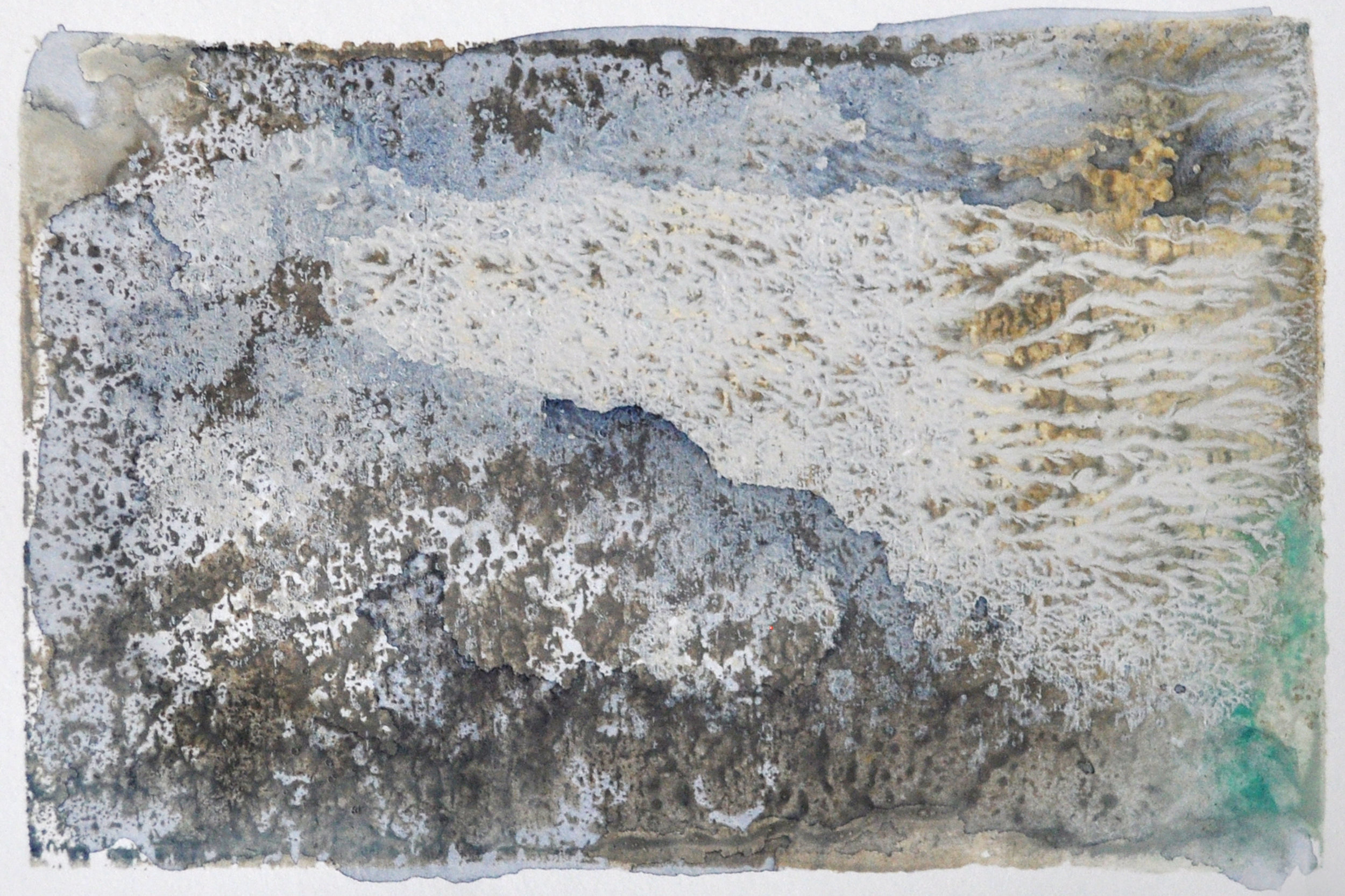 Imprint,  2017) Japanese watercolours and Chinese ink 10 x 15 cm