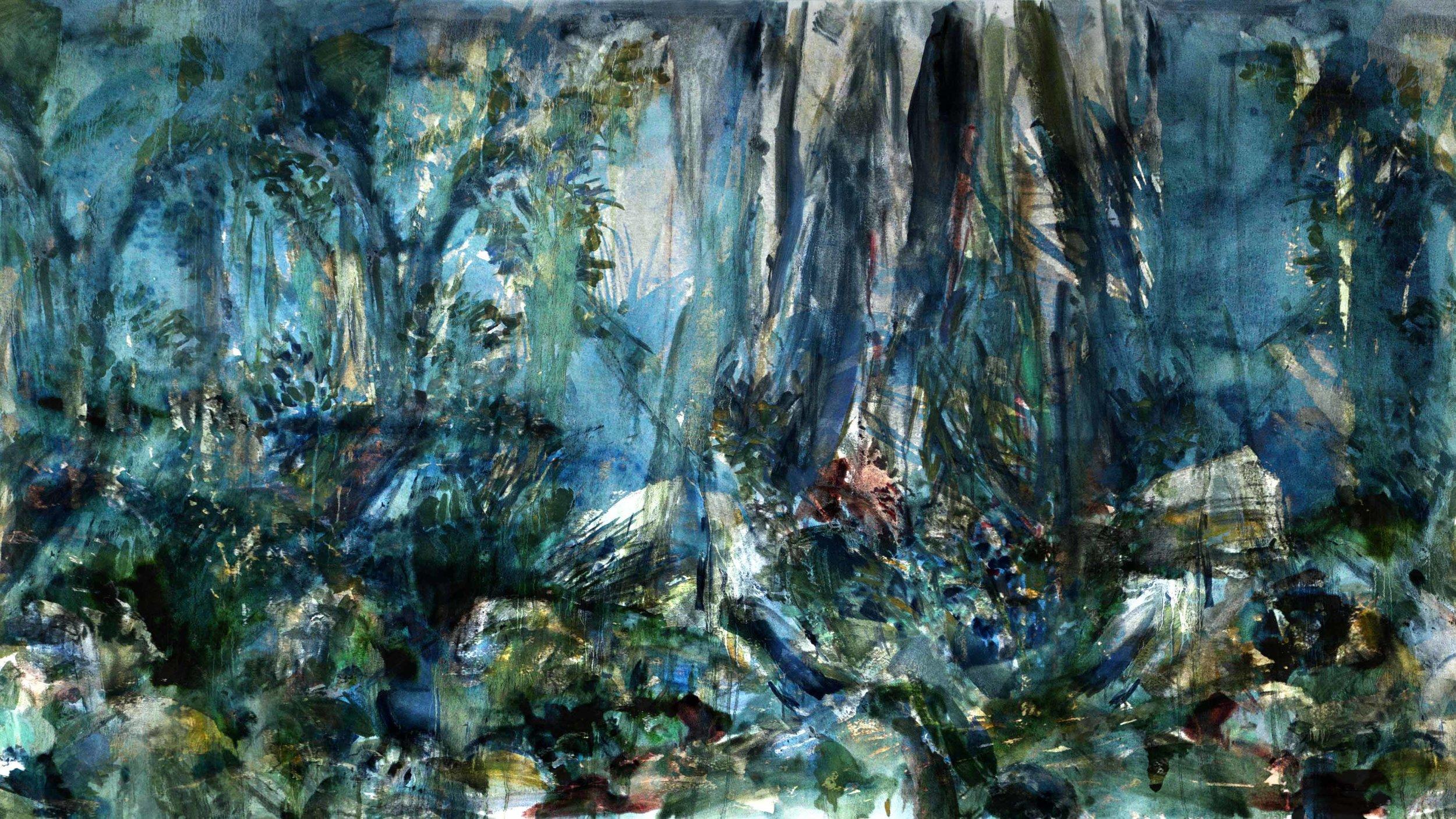 Marais - Don Quichotte , 2016 backdrop, digital painting, c-print 16 x 9 meters