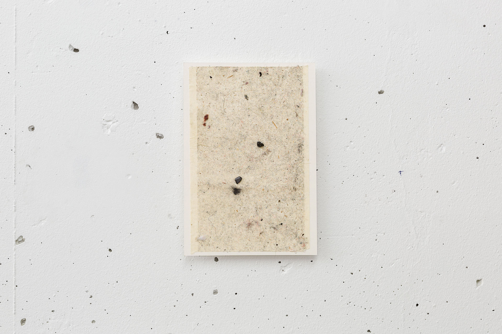 Dust painting , 2017 various dusts and particules, adhesive sheet, mounted on paper 16 x 11 cm  photo © Romain Darnaud