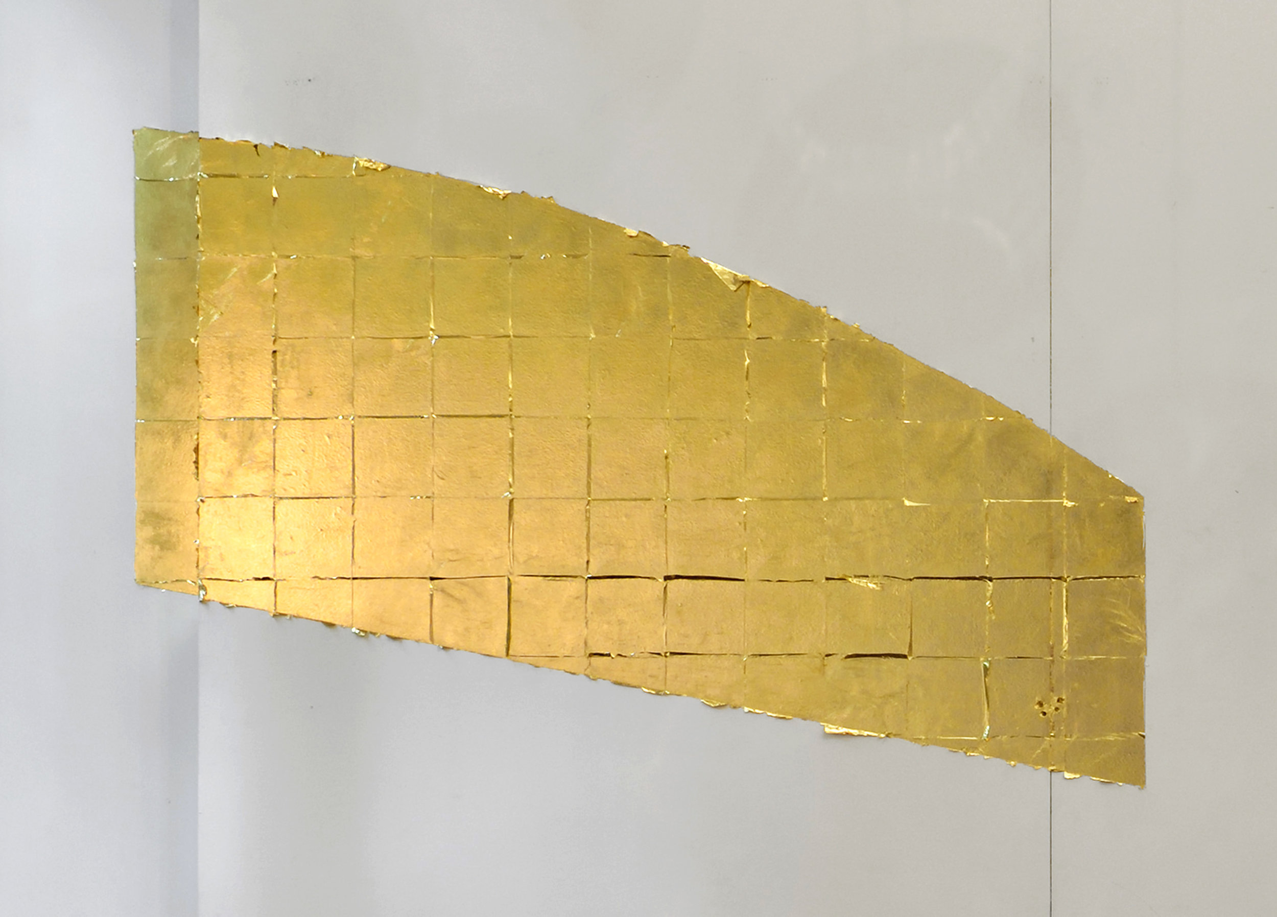 Autumn,  2016 copper-zinc leaf dimensions variable, approx. : 115 x 160 cm