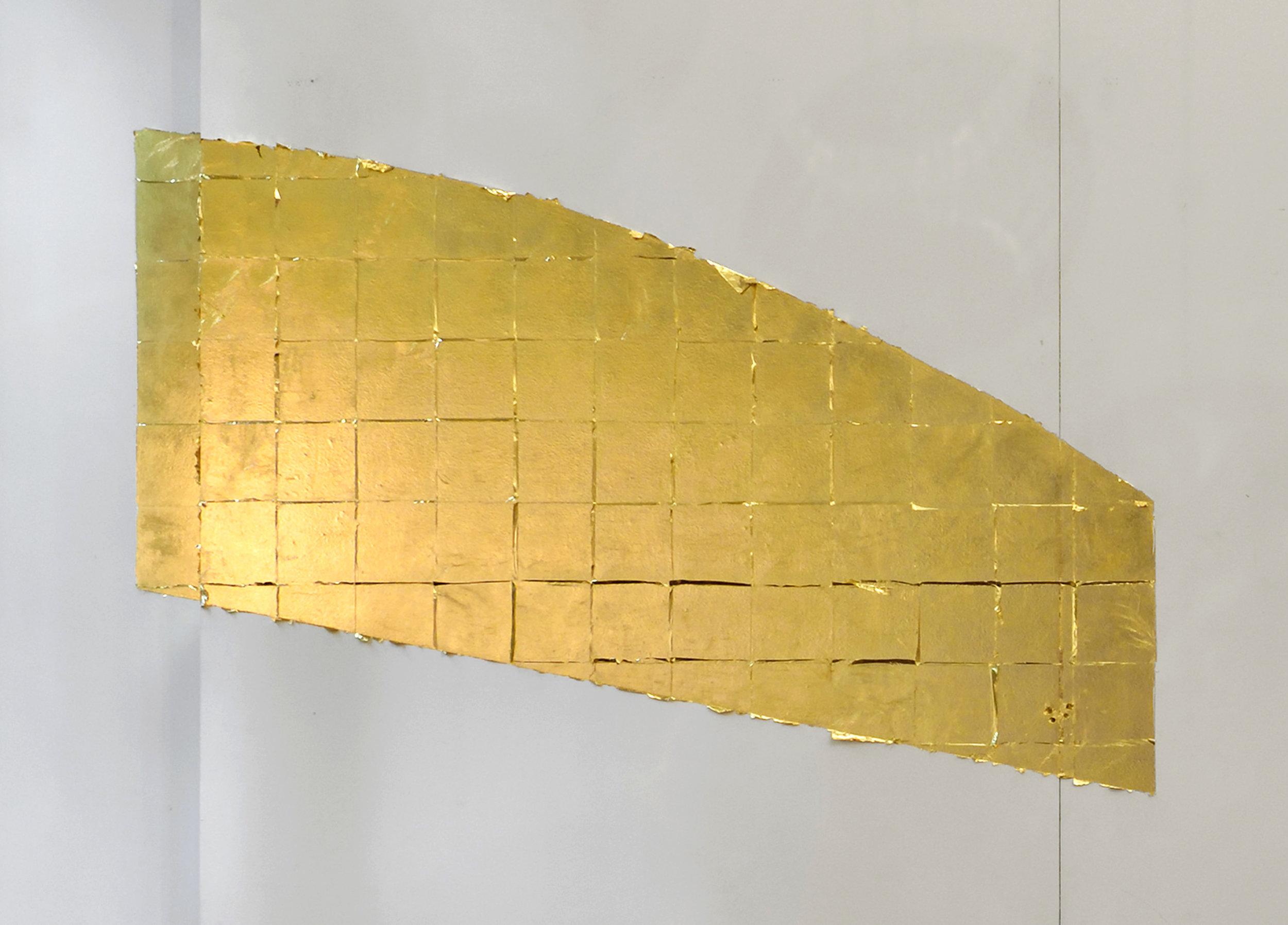 Autumn, 2016 copper-zinc leaf dimensions variable, approx. : 115 x 160 cm