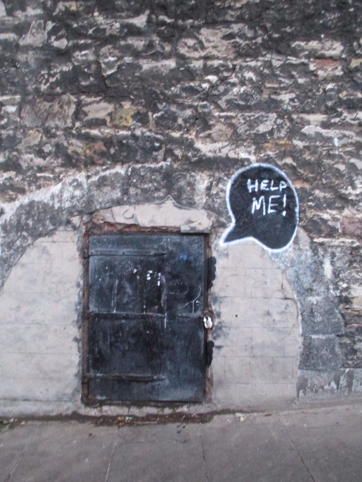 Little bit of street art on the way to Grassmarket