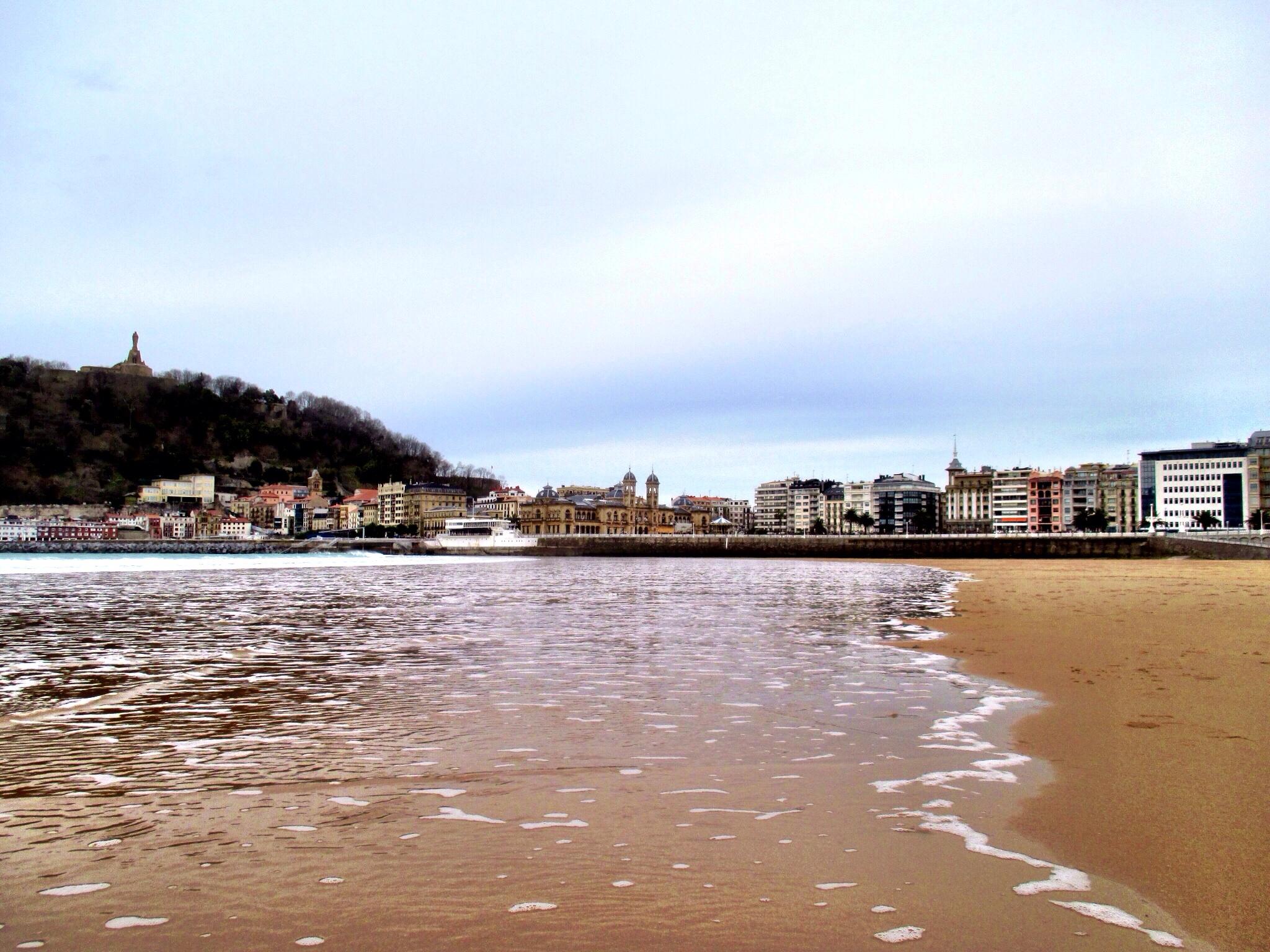The incredible beach at San Sebastián