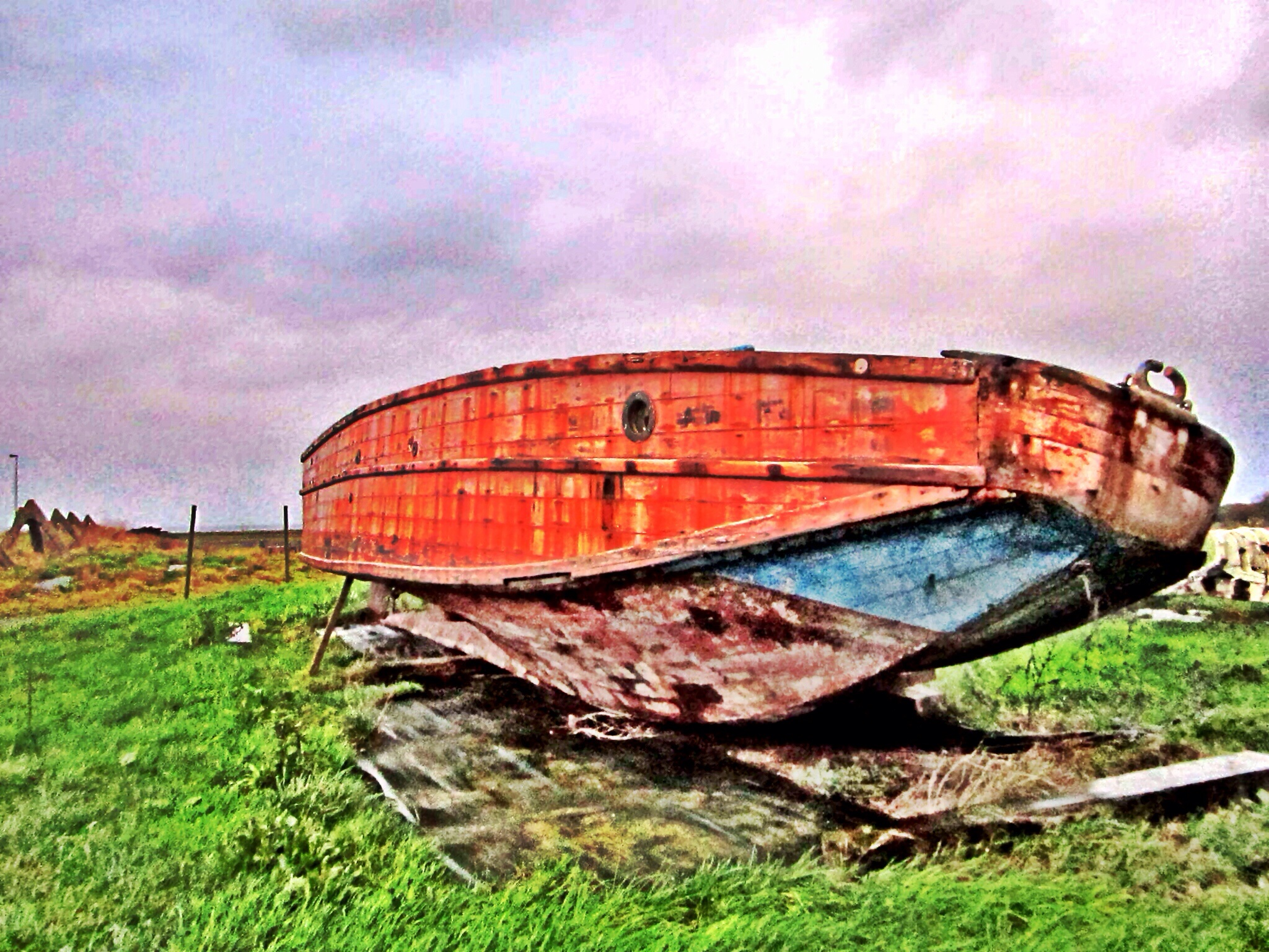 Landing craft used by Allied troops in the DDay invasion