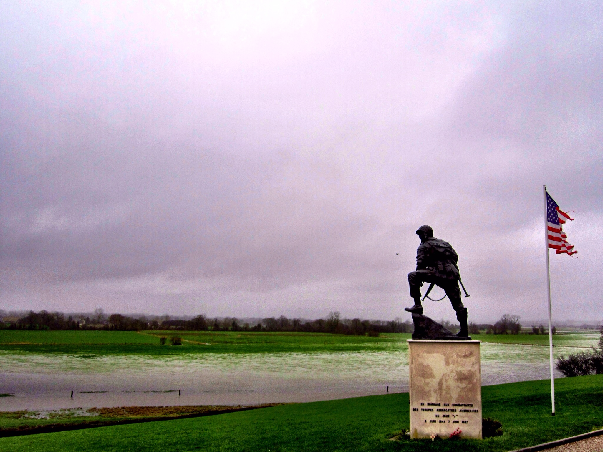Iron Mike statue commemorating the 82nd and 101st Airborne Divisions