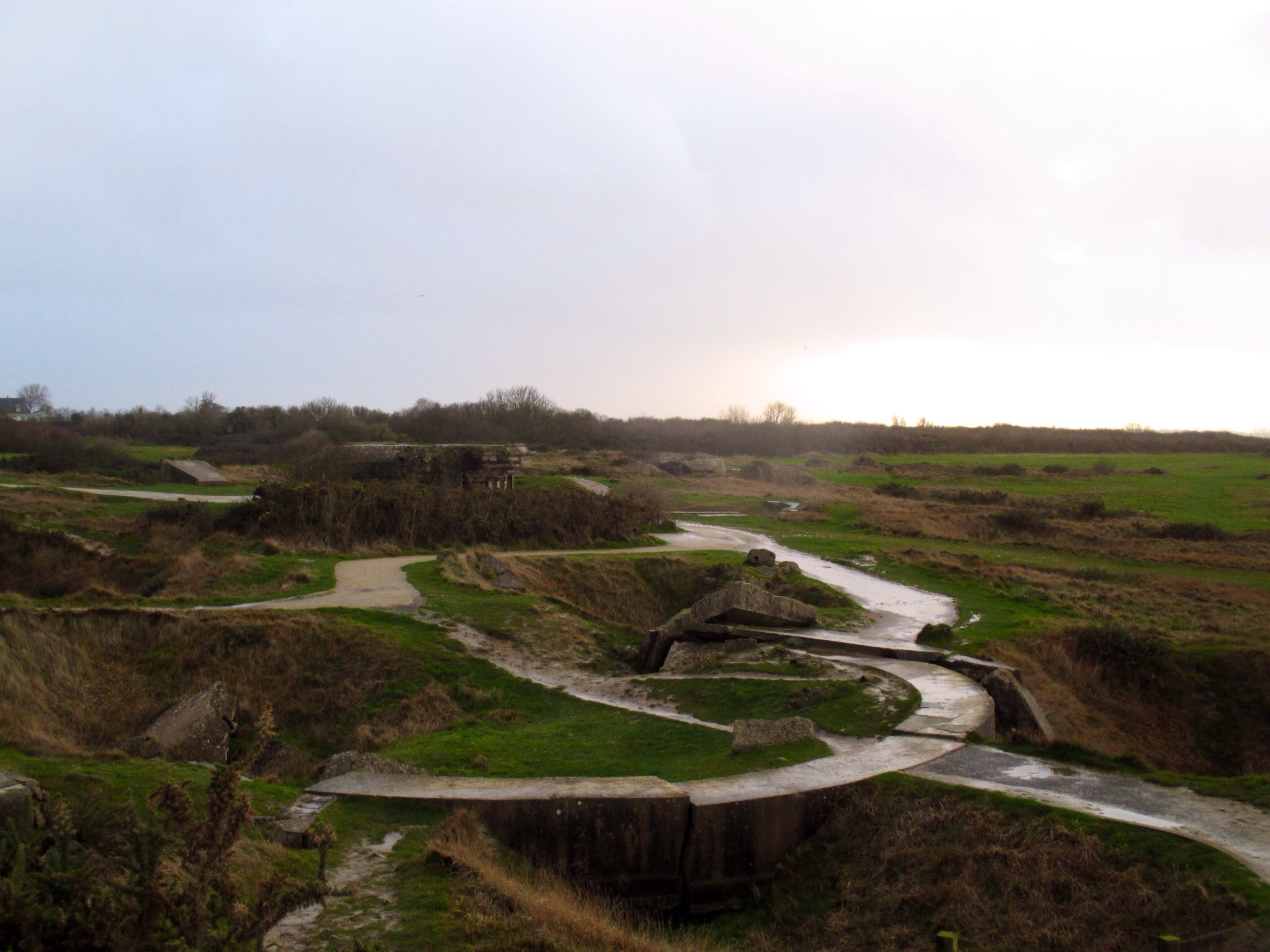 Pointe-du-Hoc pockmarked by craters