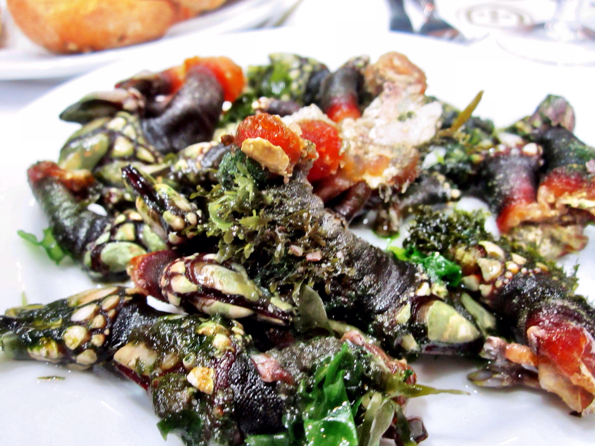 A giant plate of steaming barnacles at Cervejaria Ramiro in Lisbon