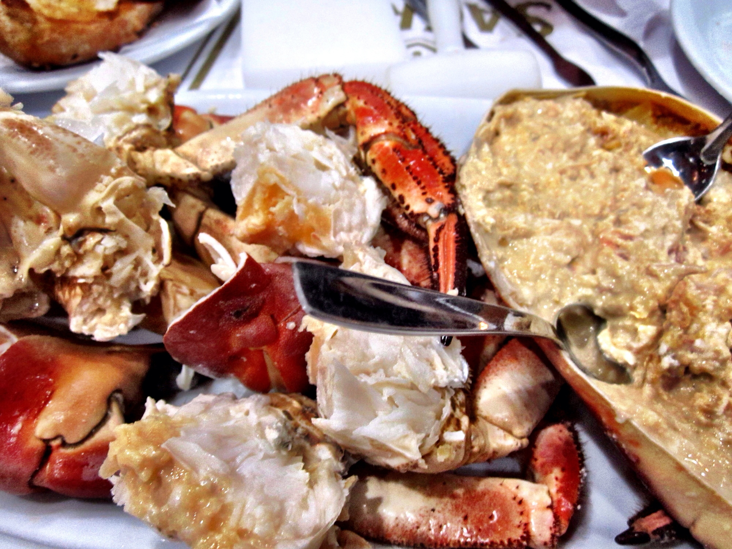 The star of the show at Cervejaria Ramiro in Lisbon - a giant plate of crab