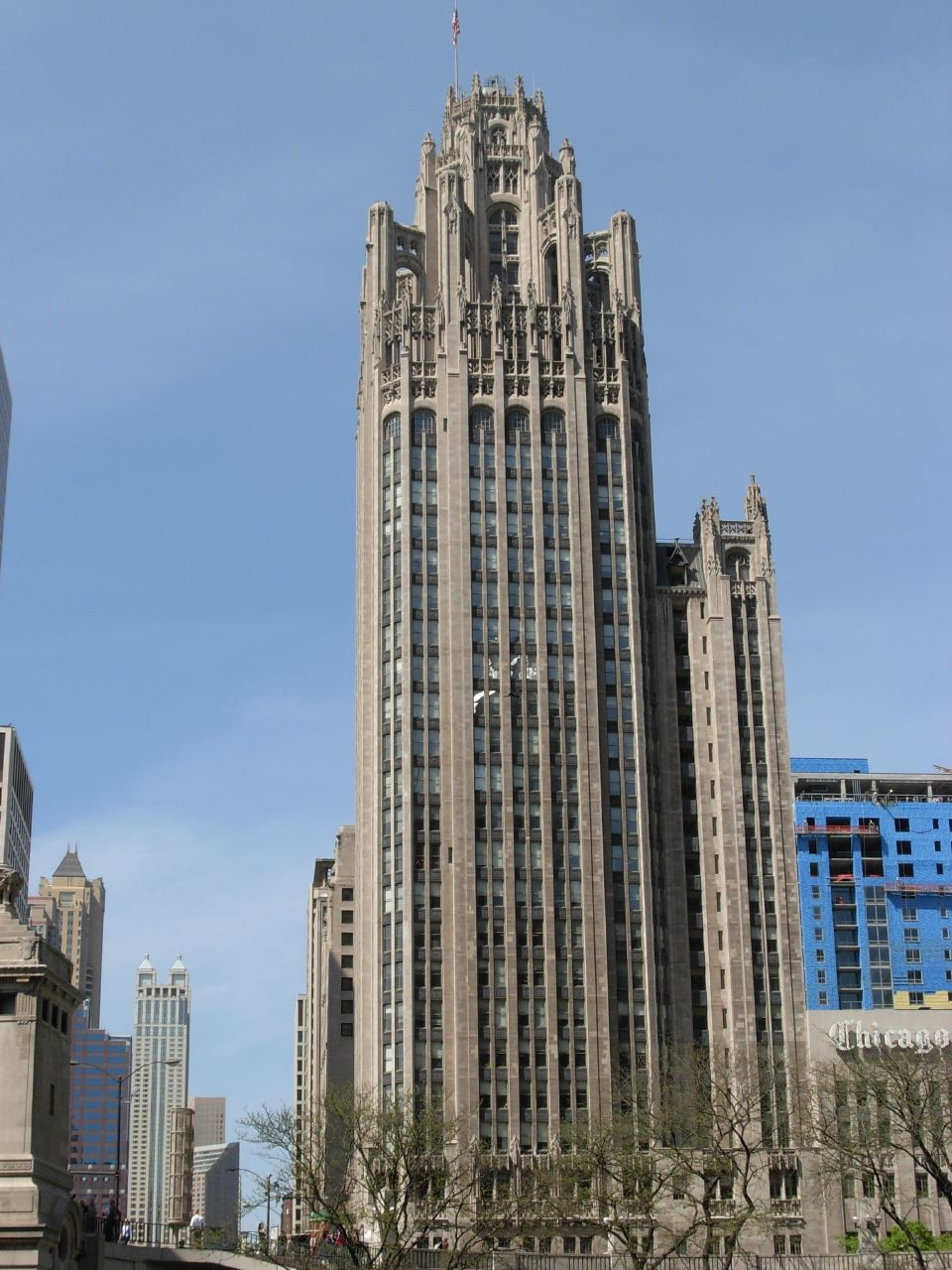 The Tribune Tower on Michigan Ave.