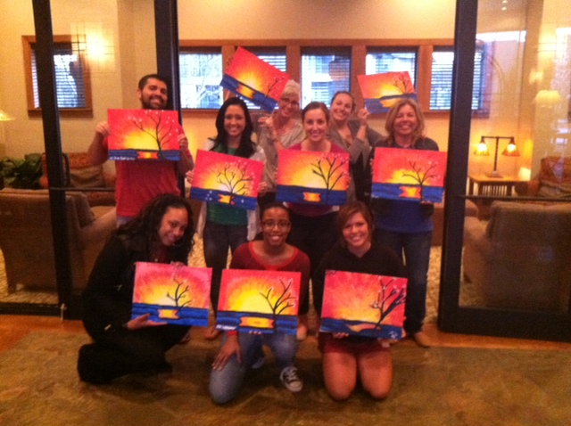 Deer Creek Apartments hosted a private painting party for their residents