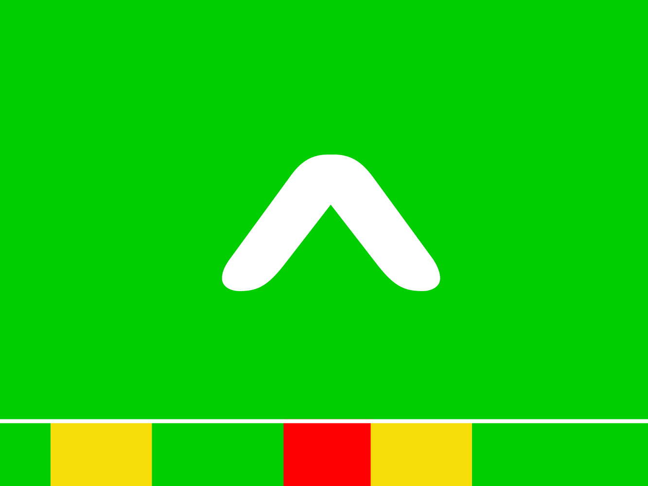 Concept 1: Only colors & symbols used to indicate air quality.
