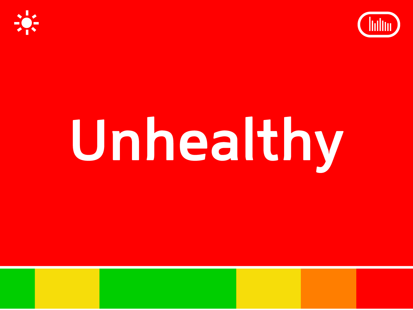 Concept 2: Using numbers or descriptive adjectives to indicate air quality.