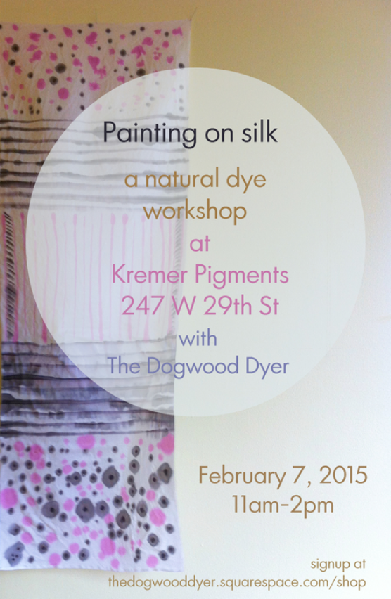 painting on silk workshop with the dogwood dyer