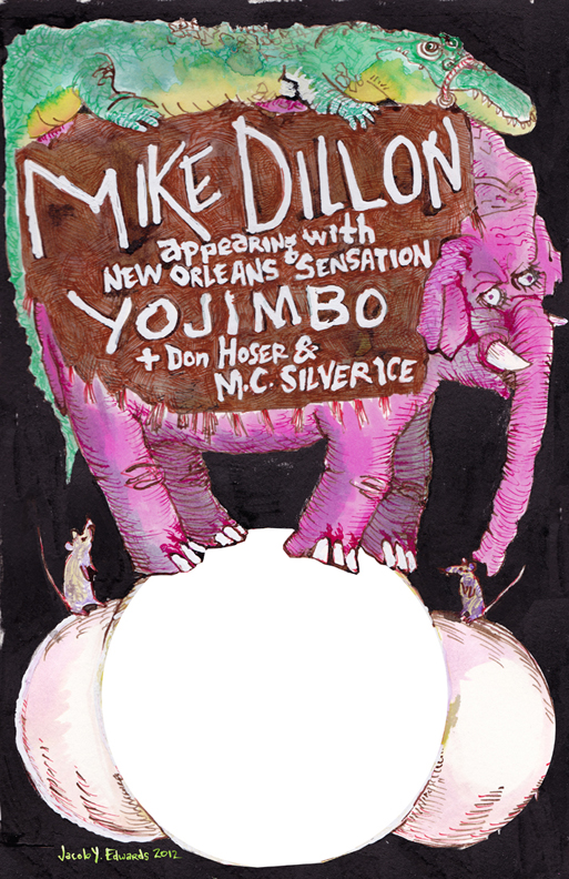 Flyer for Mike Dillon Band Tour