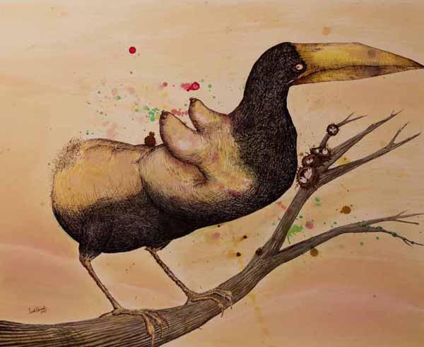 Bird with Back of a Bird Print