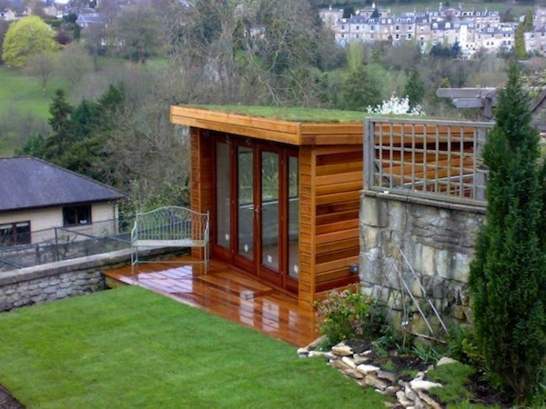 green roof with little shed on urban house.jpg