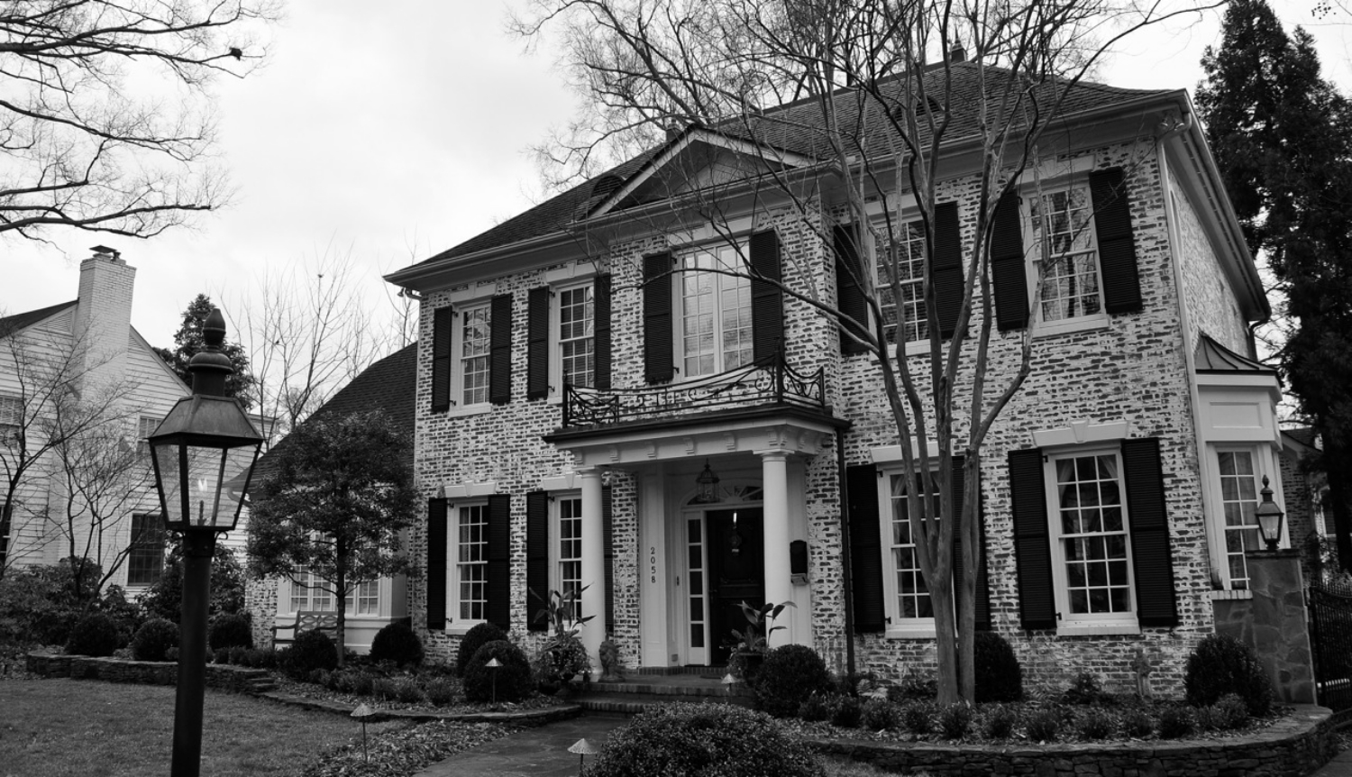 front of house black and white.JPG