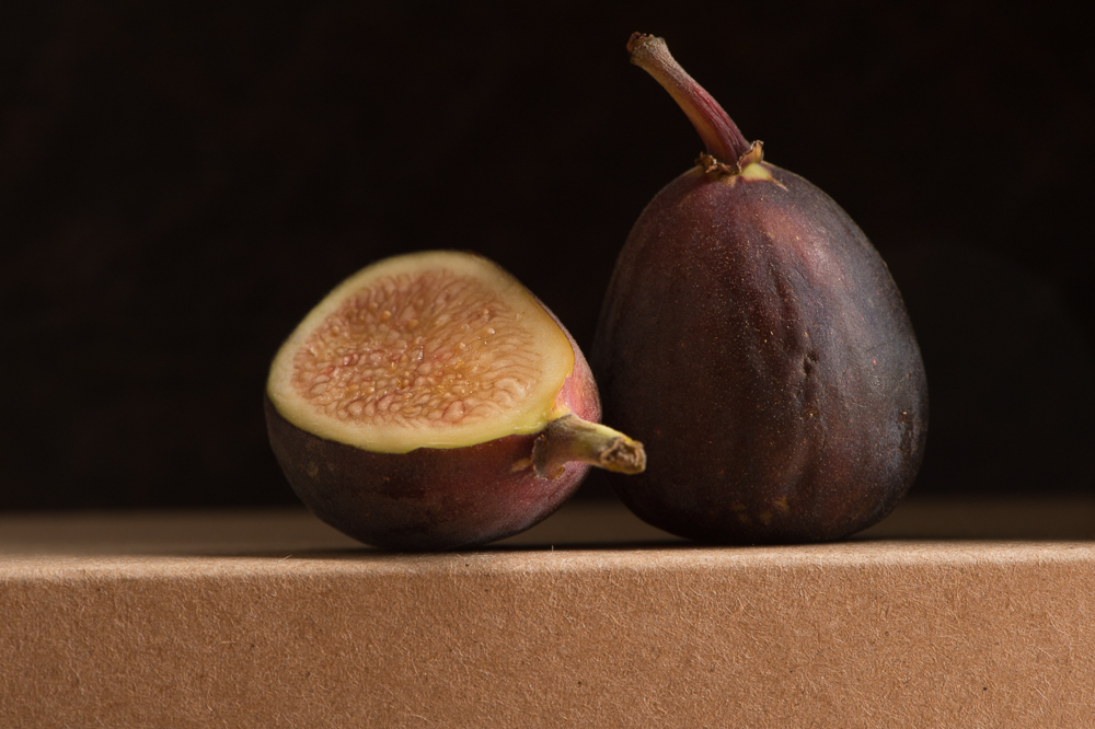 I love the glow in the tip of the stem in the whole fig.
