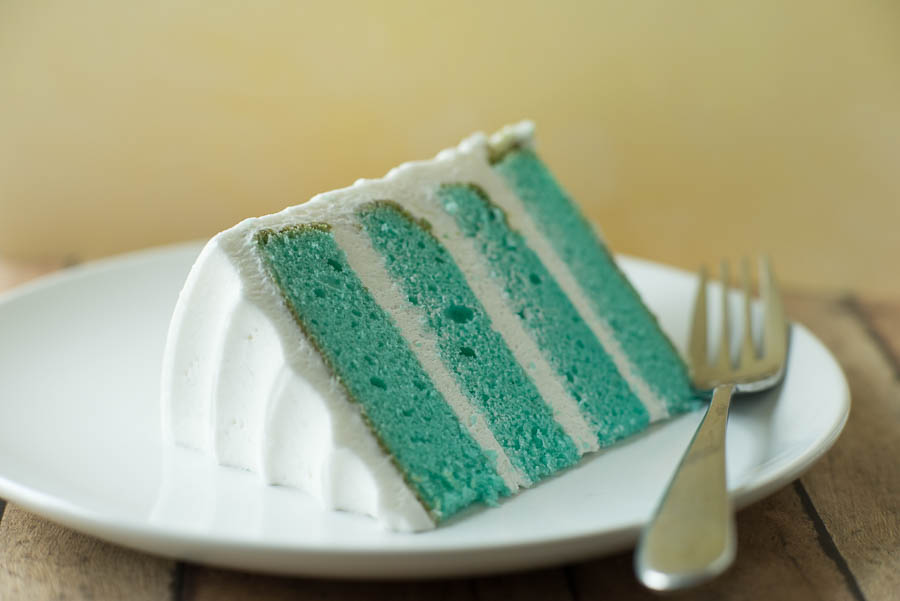 This blue velvet cake is another example of something I picked up because it looked good at the bakery (Great Dane).