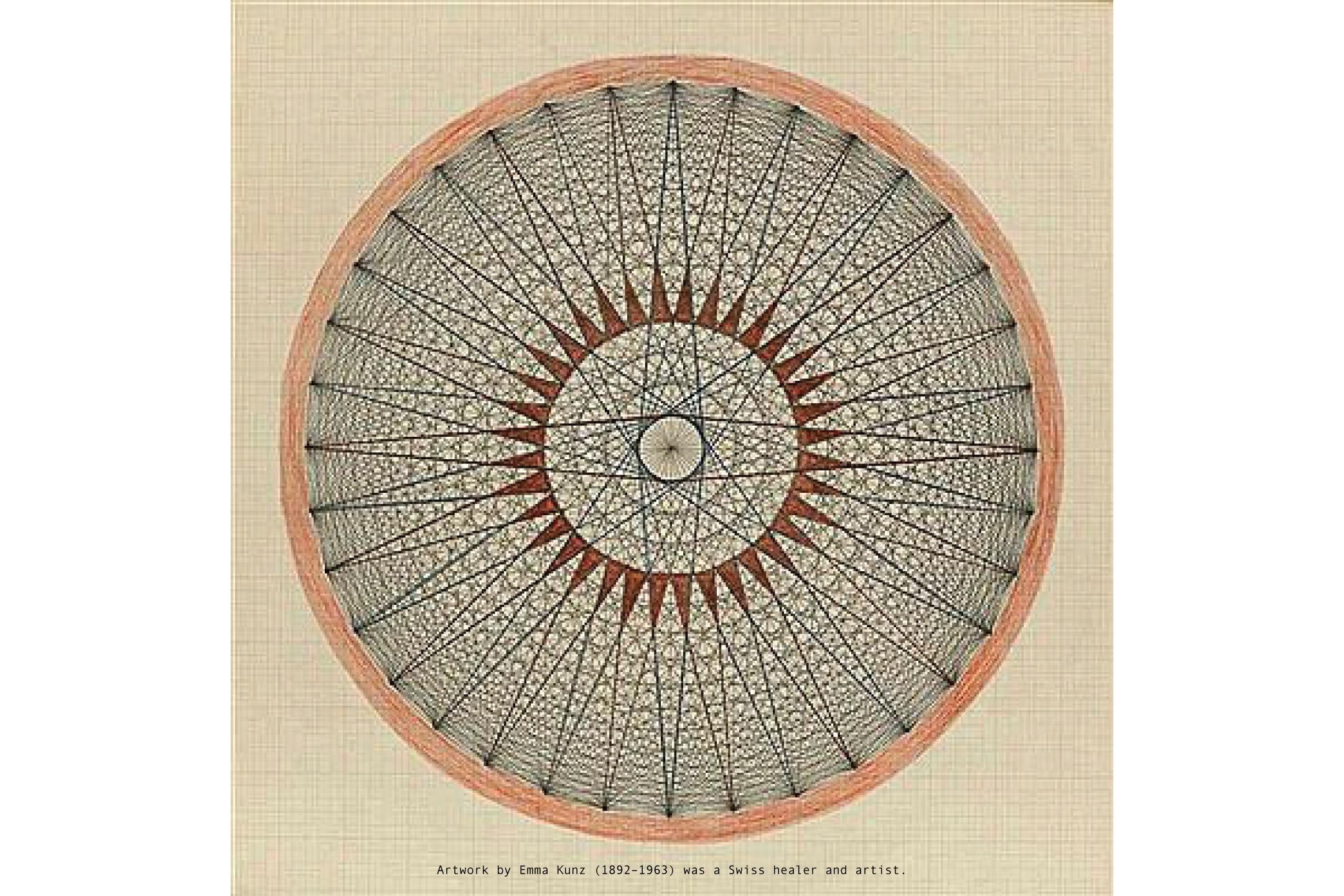 Artwork by Emma Kunz (1892–1963) was a Swiss healer and artist.