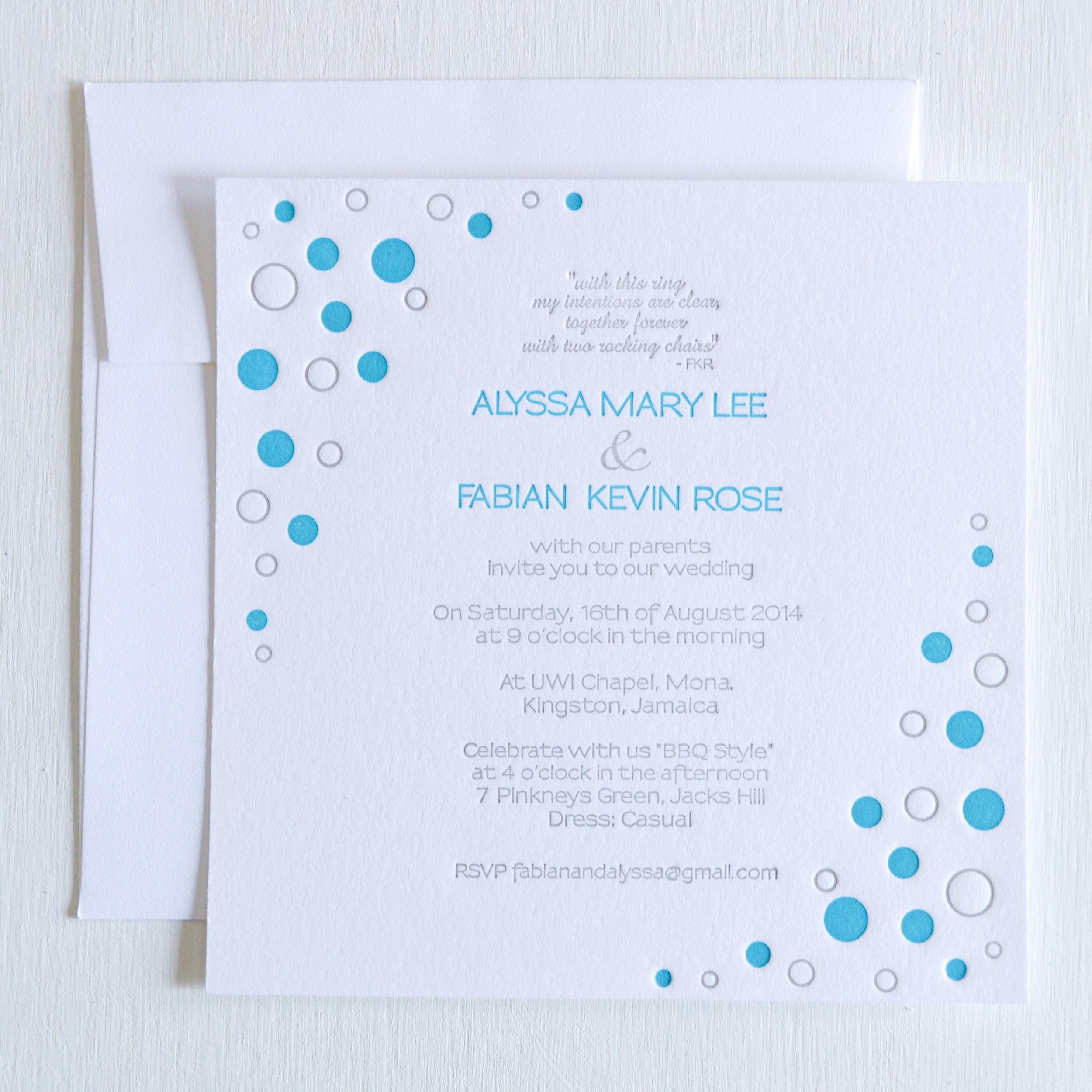 teal and grey backyard bbq letterpress wedding invitation.jpg