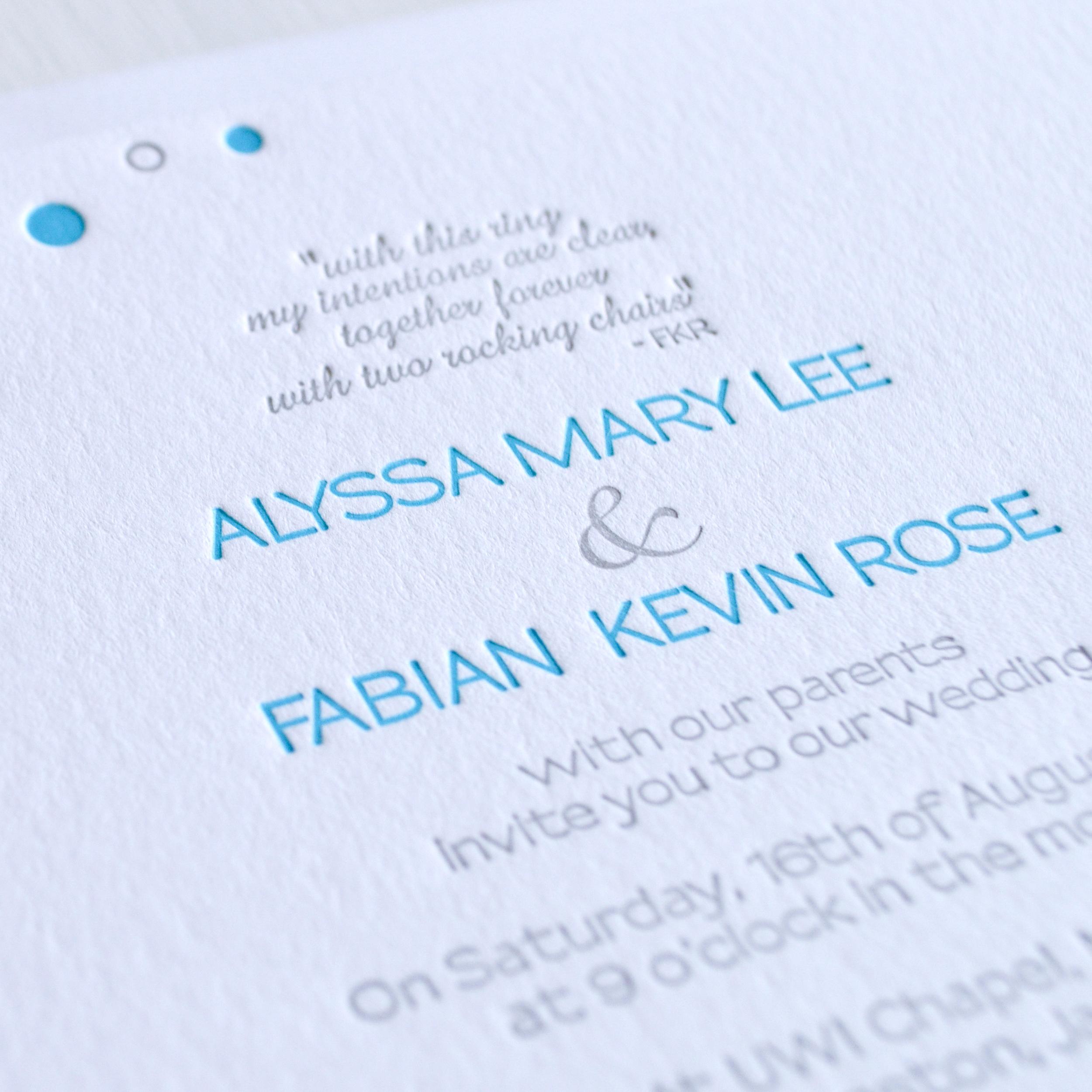 teal and grey backyard bbq letterpress wedding invitation 2.jpg