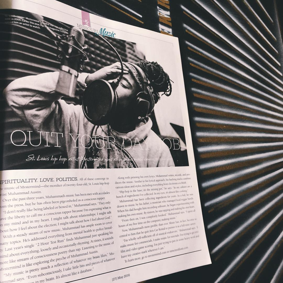 Missouri Life Magazine (May Edition)  Where Mvstermind Talks about being self Sufficient off of Musical Endeavors.