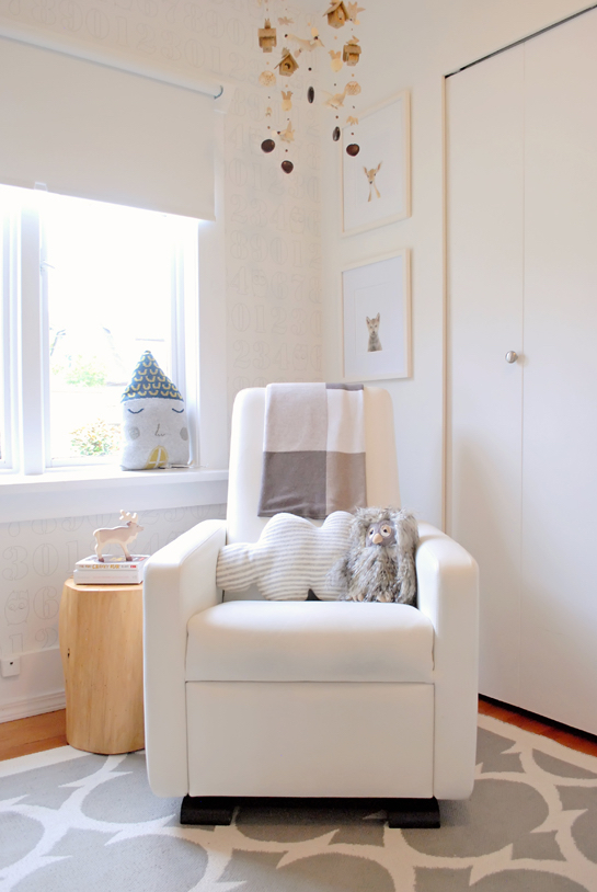 cloud pillow on monte design rocker chair