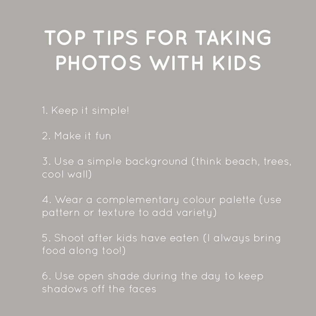 top tips for taking photos with kids