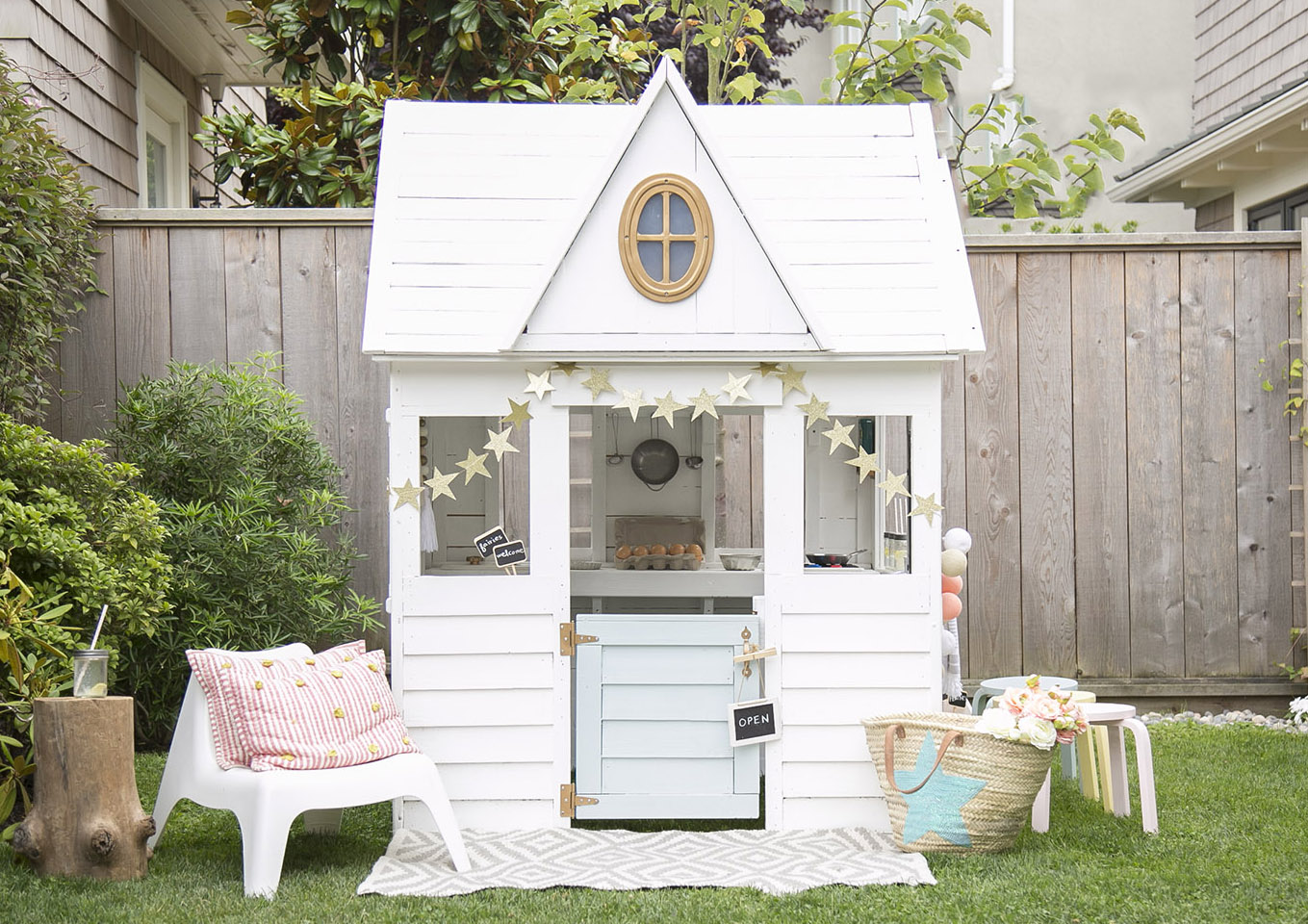 kids costco playhouse repainted in white