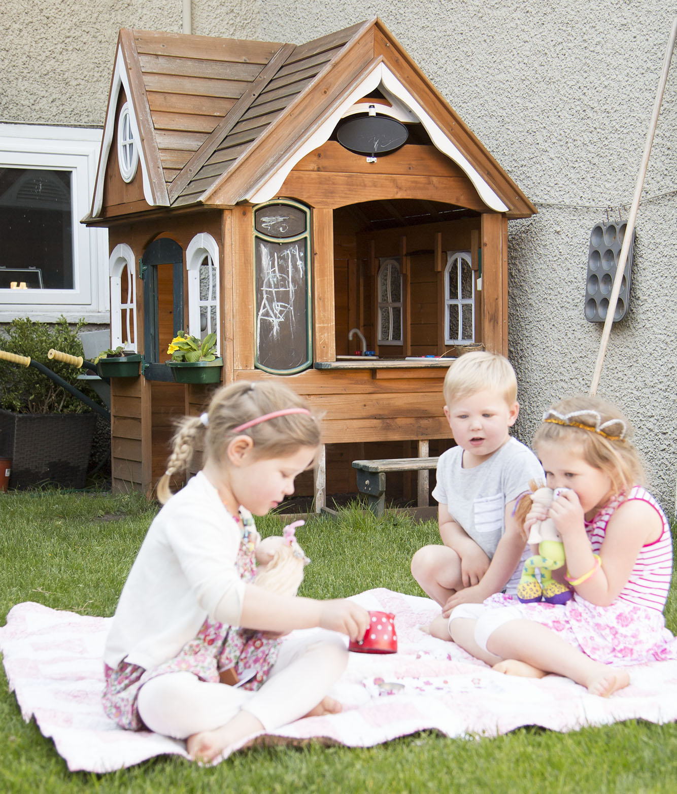 costco wooden playhouse for kids