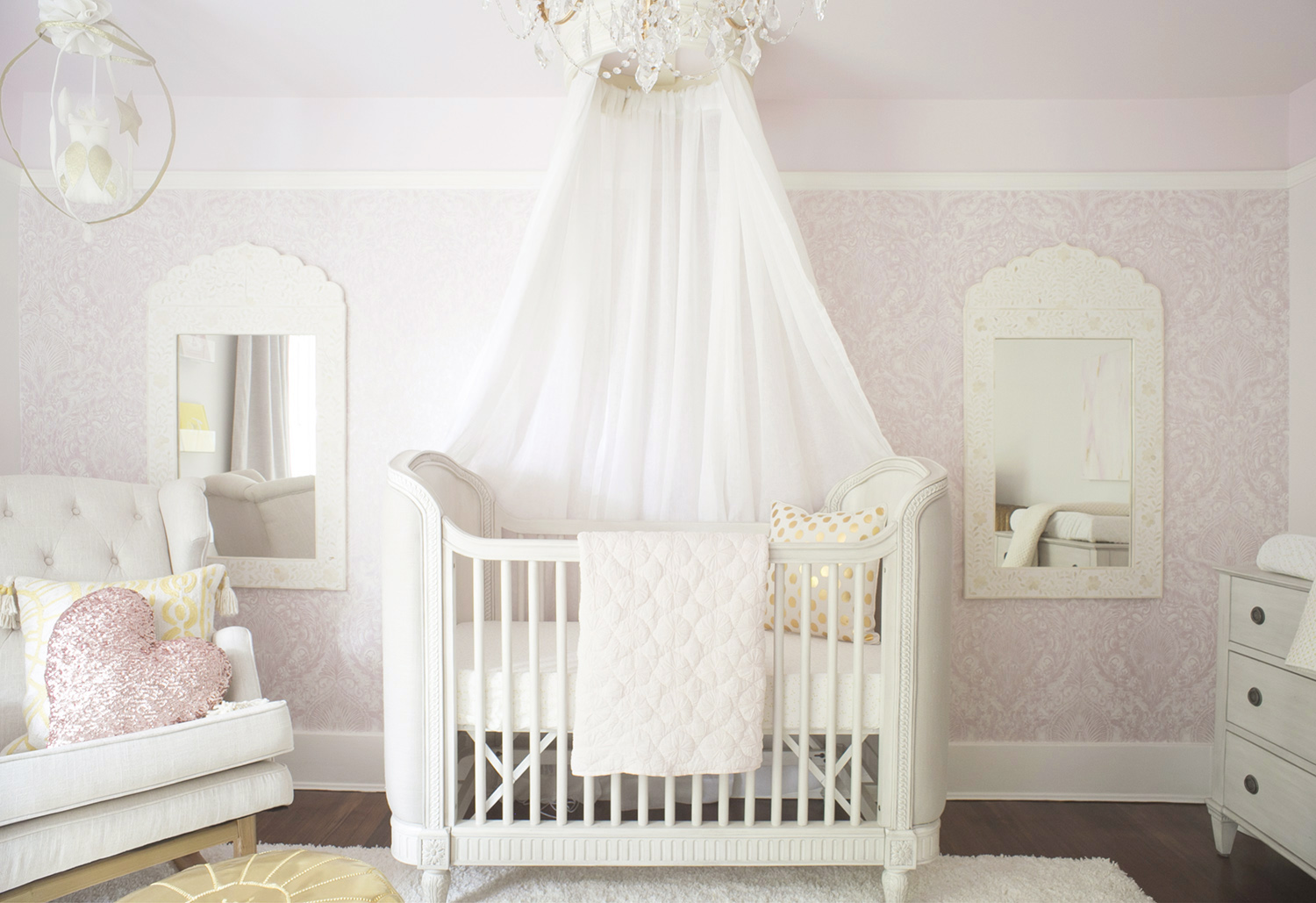 crib view in baby nursery
